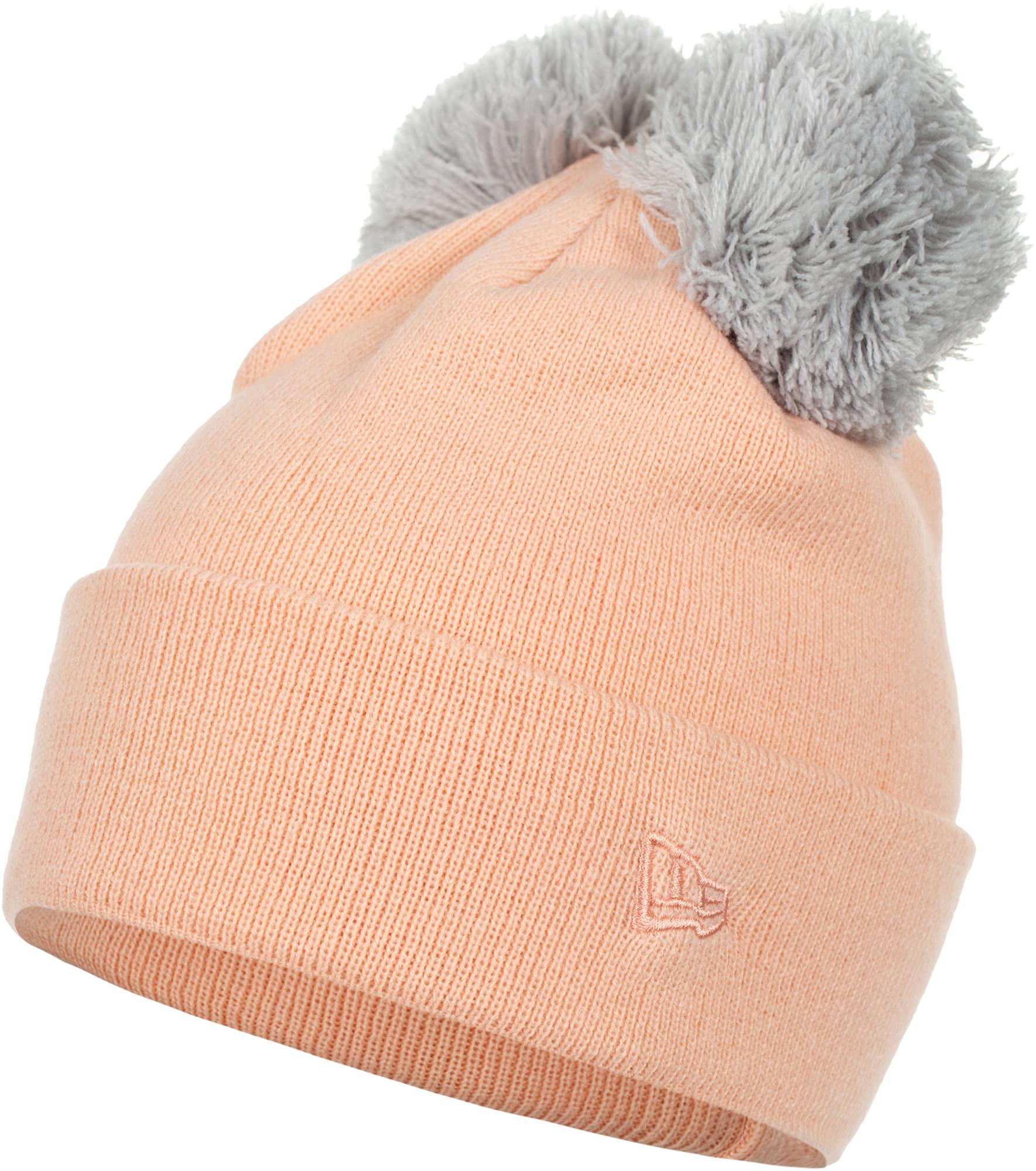 New Era Шапка женская New Era Double Pom Cuff Knit new era шапка new era lic 801 essential cuff knit размер без размера