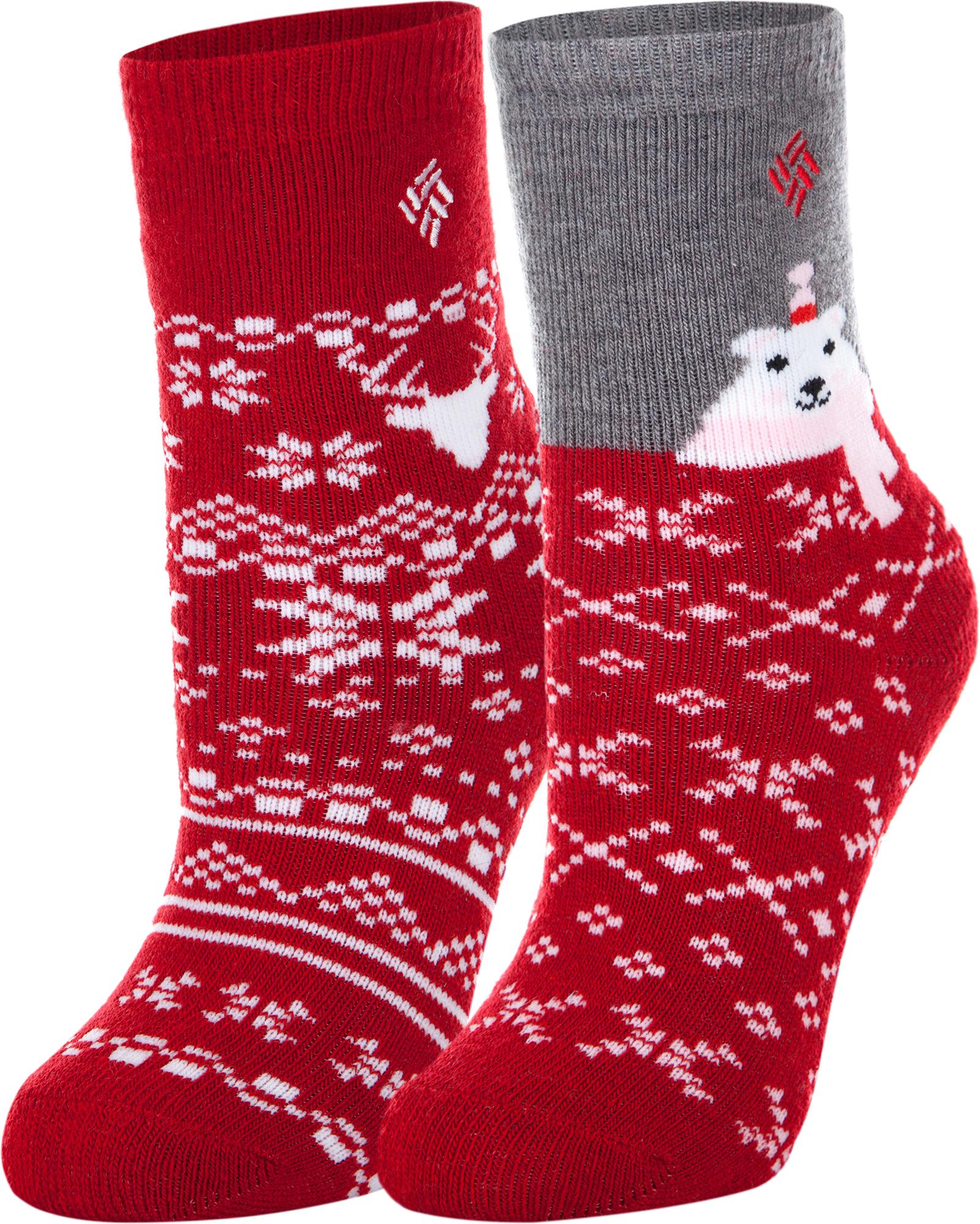белье acoola носки детские 2 пары цвет ассорти размер 16 18 32114420052 Columbia Носки для девочек Columbia, 2 пары, размер 27-30