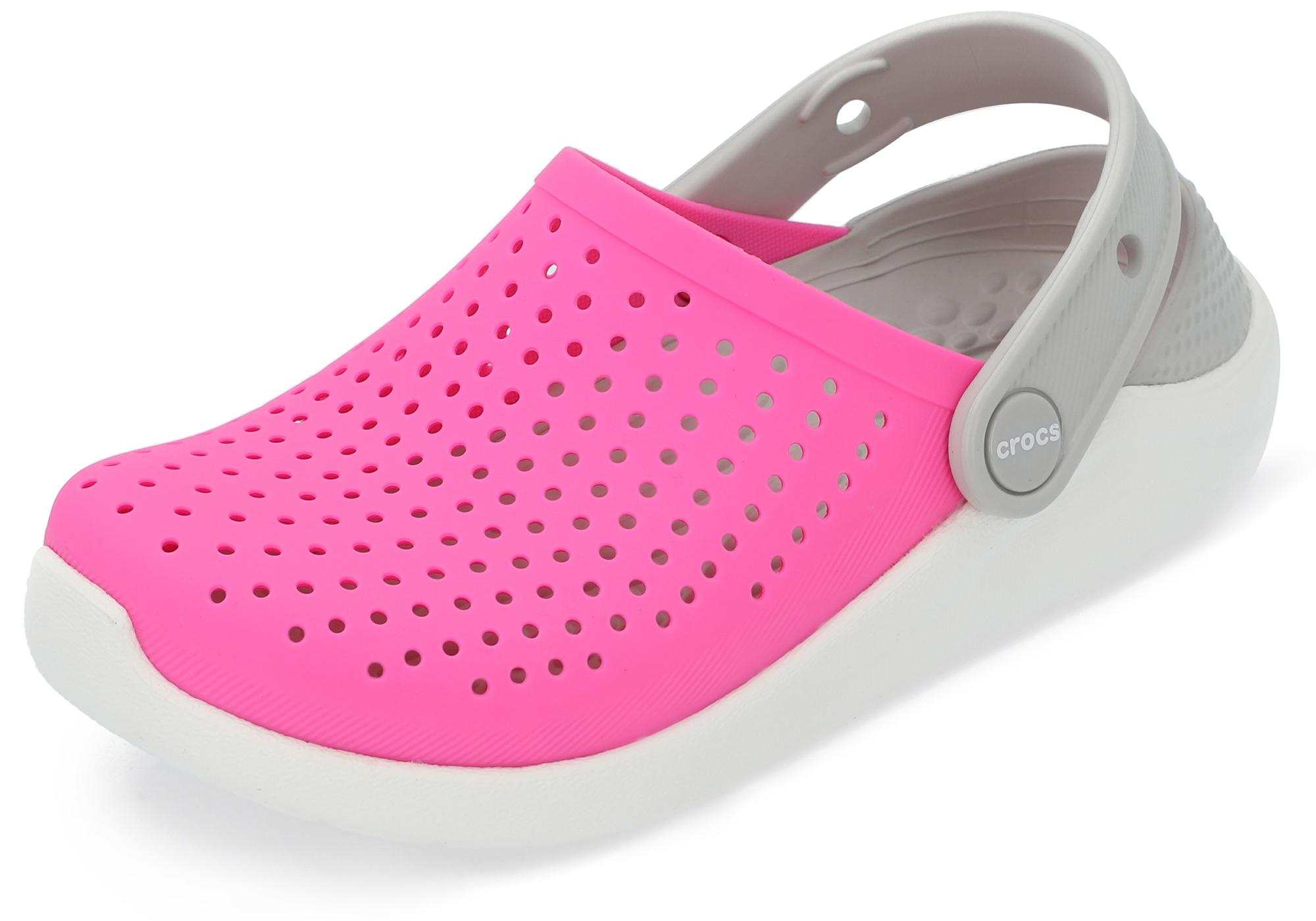 цена на Crocs Шлепанцы для девочек Crocs Literide Clog K, размер 33-34
