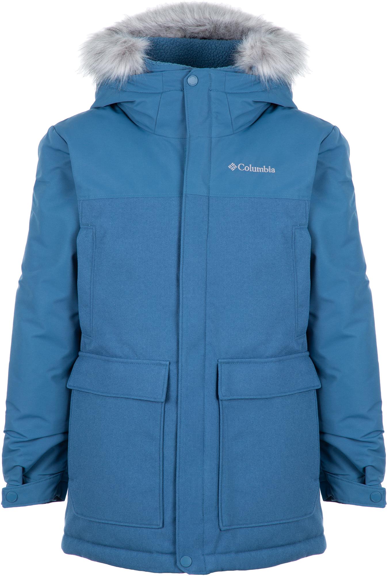 цена на Columbia Куртка пуховая для мальчиков Columbia Boundary Bay, размер 155-159