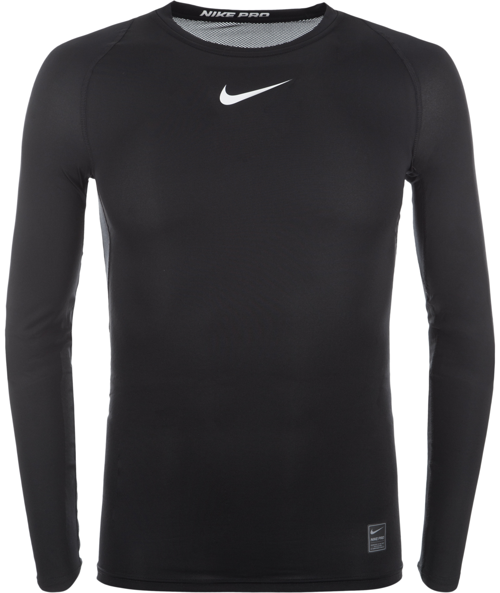 Nike Футболка с длинным рукавом мужская Nike Pro, размер 54-56 цена и фото