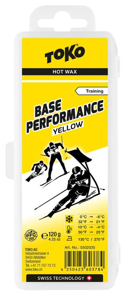 цены Toko Мазь скольжения TOKO Base Performance Yellow Hot Wax Training