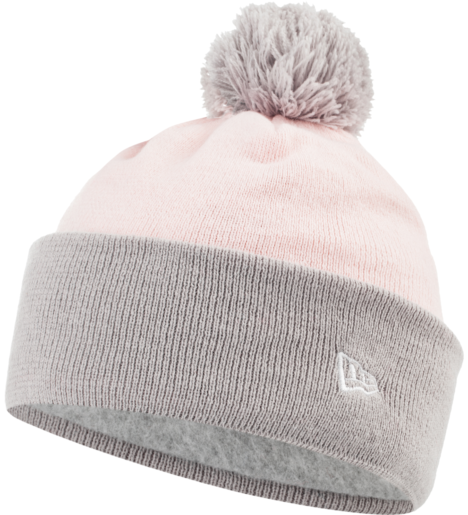 New Era Шапка для девочек New Era Cuff Pom Knit Newera, размер 54-55 цена