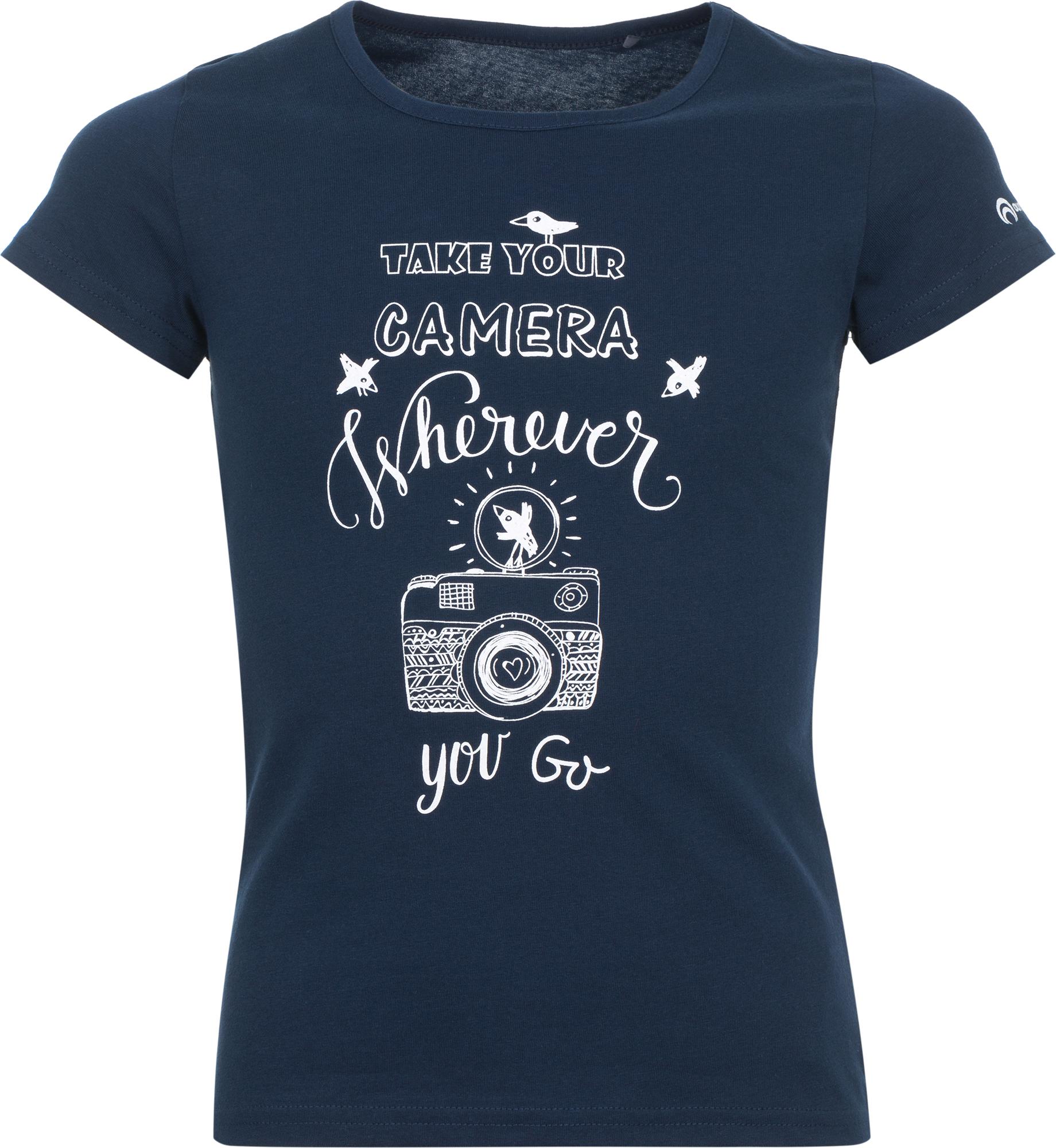 Outventure Футболка для девочек Outventure, размер 134