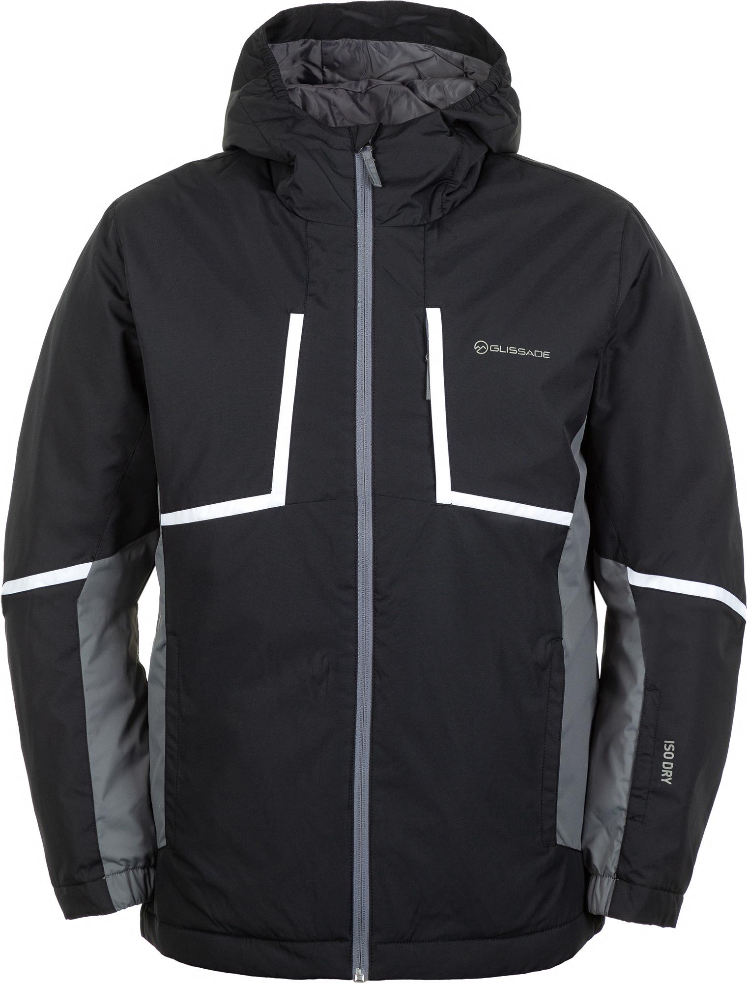 Glissade Куртка утепленная мужская Glissade, размер 60-62 куртка мужская reebok f puff bomber цвет черный dh2140 размер xxl 60 62