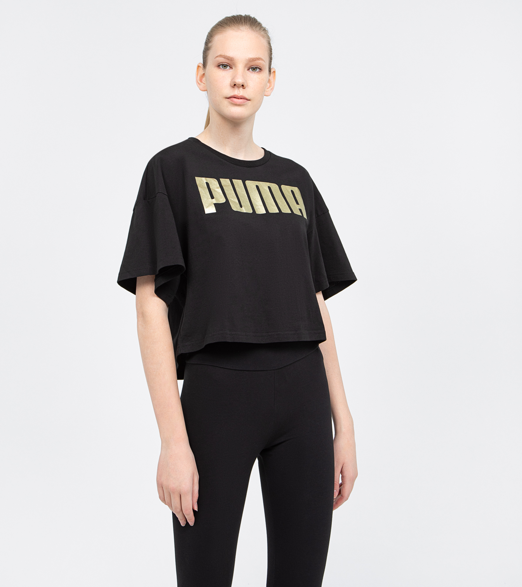 Puma Футболка женская Puma Rebel Fashion Tee, размер 44-46 футболка мужская puma basic 2p crew tee цвет черный 2 шт 90668901 размер s 44 46