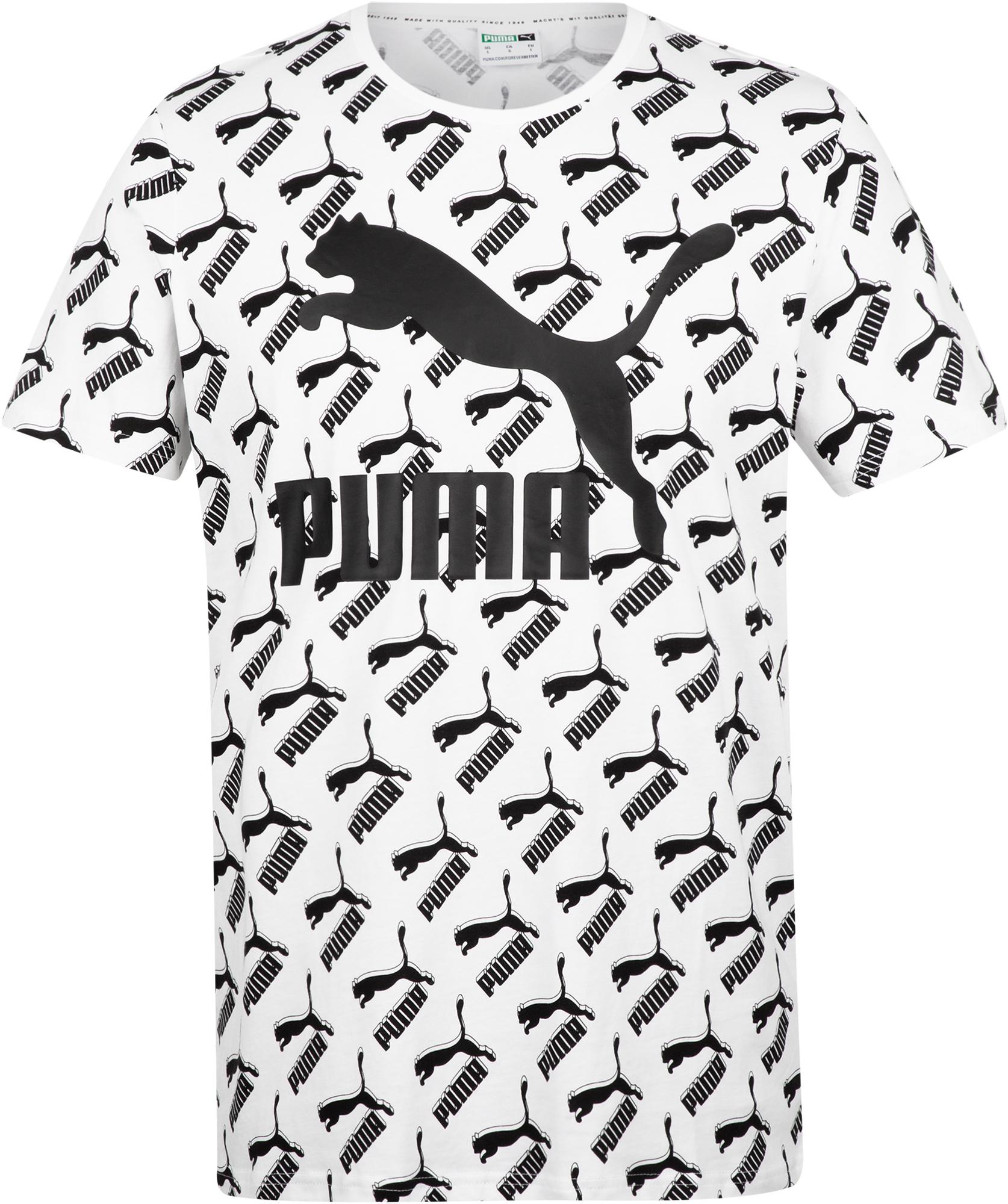 Puma Футболка мужская Puma AOP Logo Tee, размер 50-52 men ombre tee with drawstring shorts