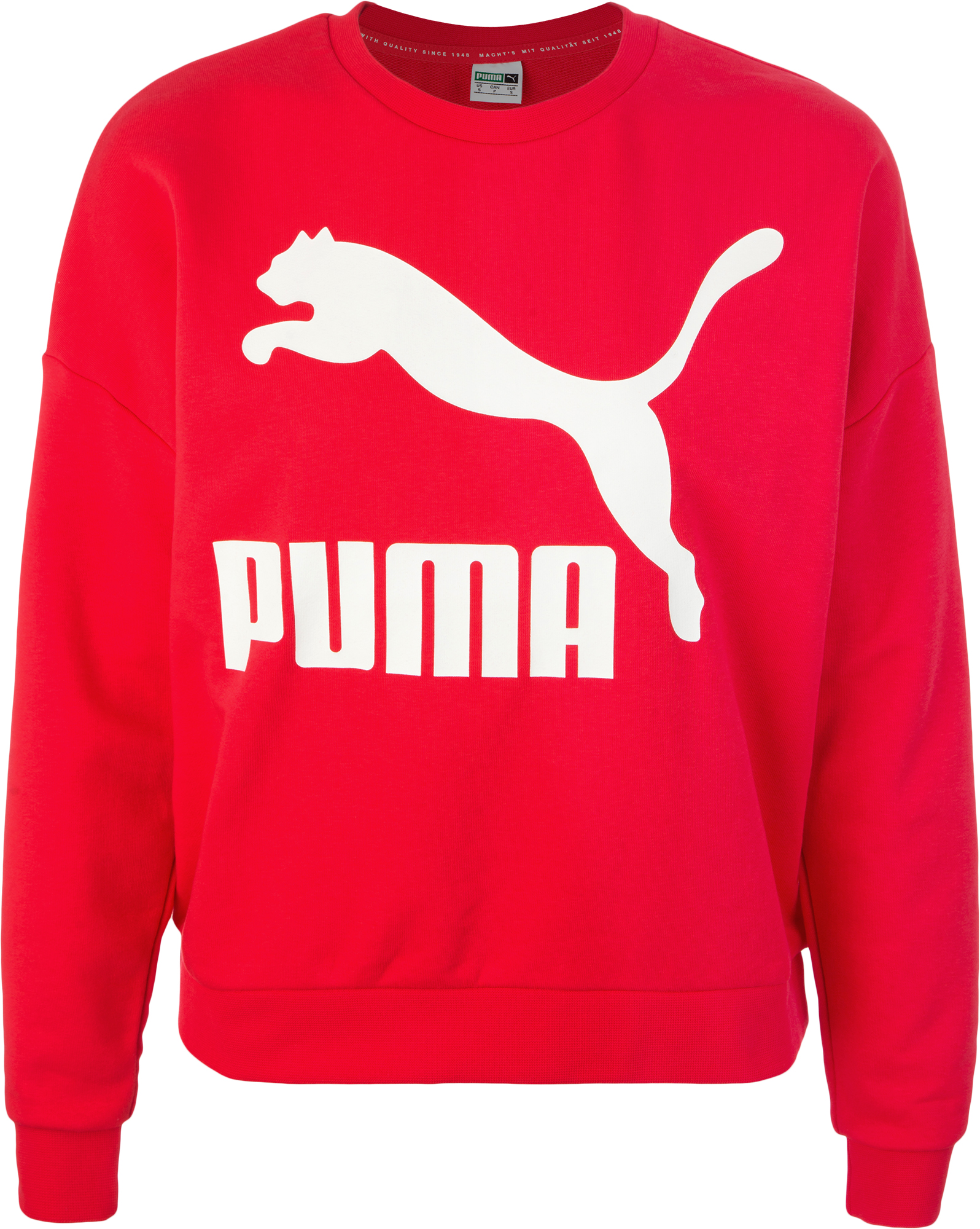 Puma Джемпер женский Puma Classics Logo Crew, размер 46-48