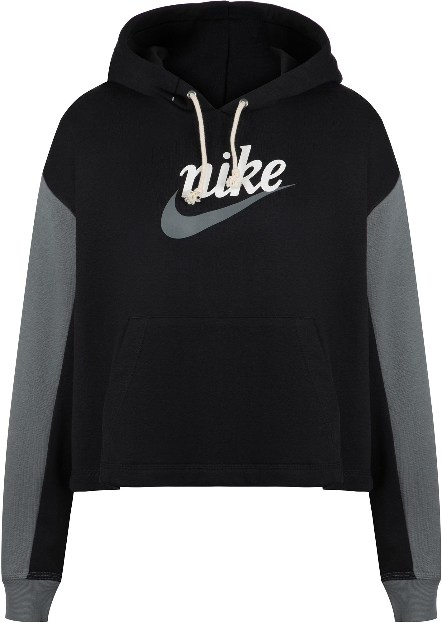 цена Nike Худи женская Nike Sportswear Varsity, Plus Size, размер 52-54 онлайн в 2017 году