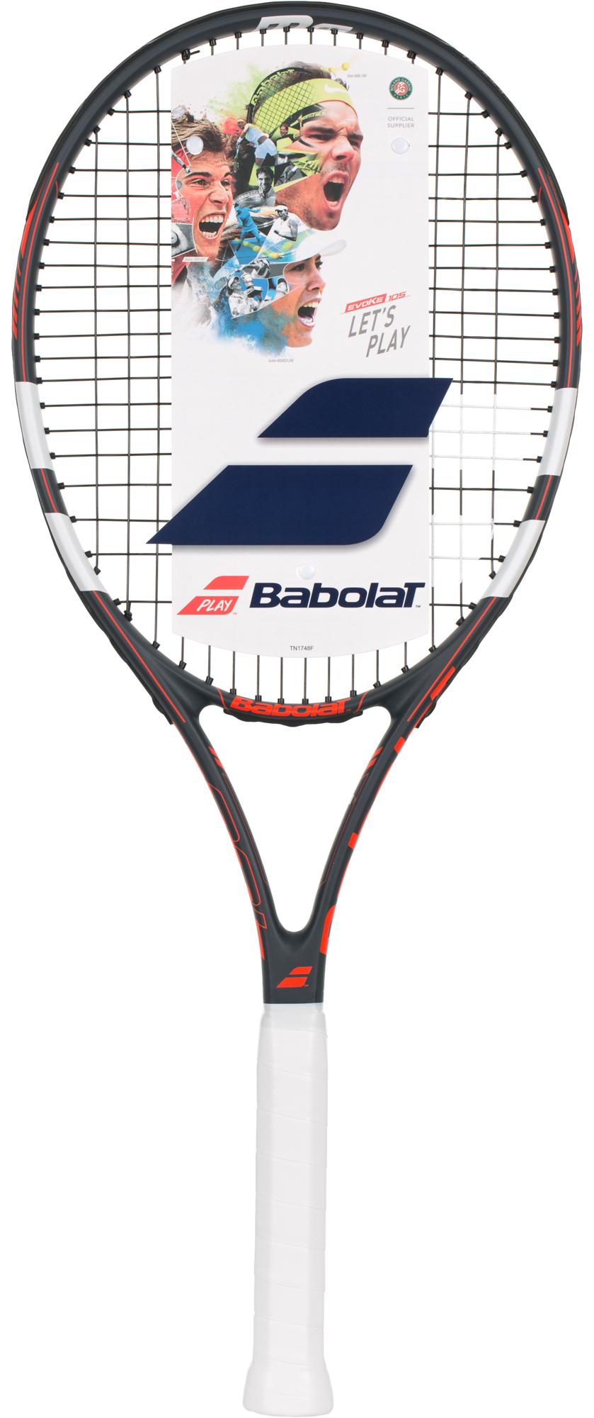 Babolat Ракетка для большого тенниса Babolat Evoke 105, размер 3 babolat ракетка для большого тенниса детская babolat ballfighter 23 размер без размера