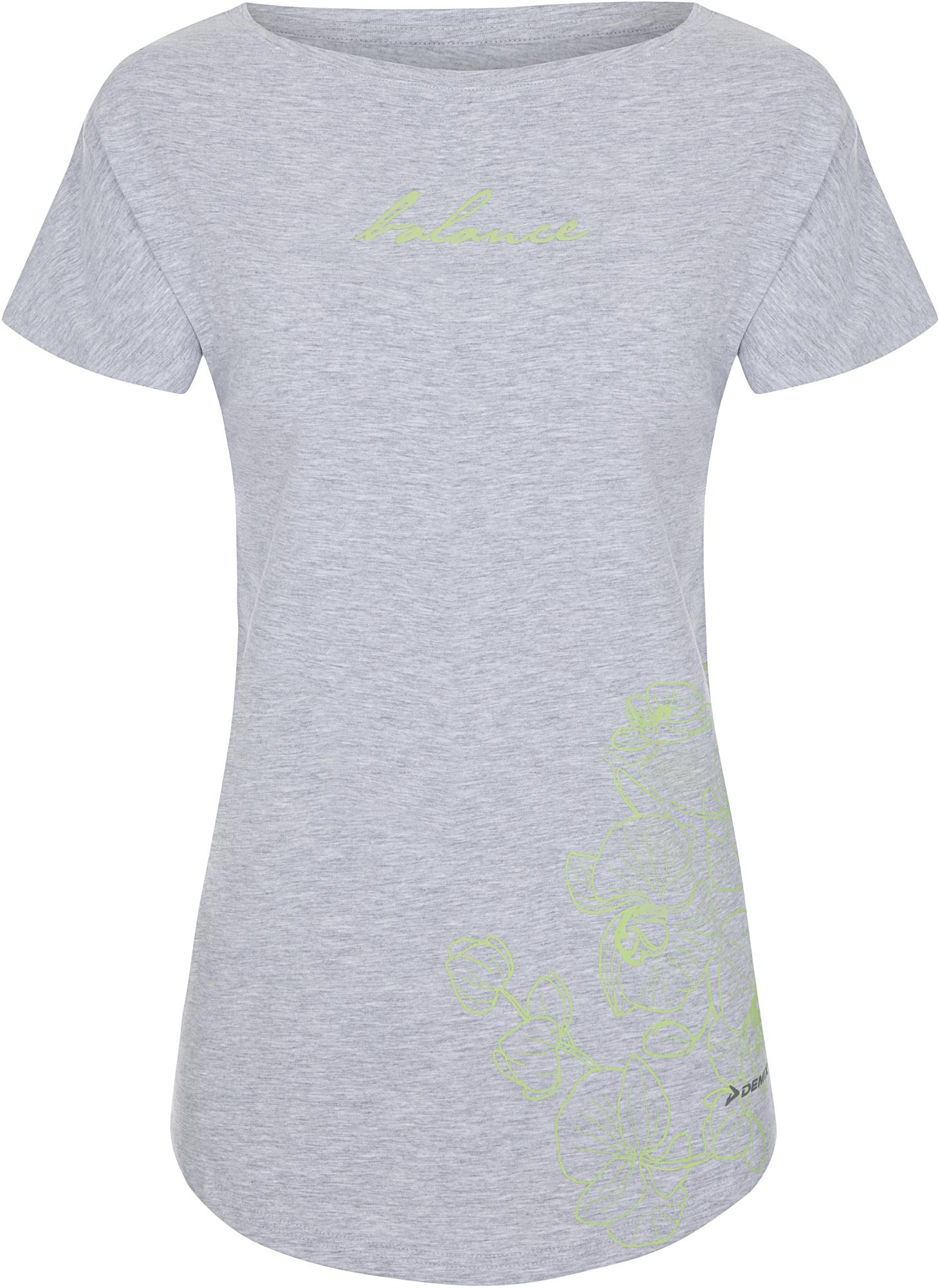 Demix Футболка женская Demix, размер 50 футболка женская oodji ultra цвет хаки 14707001 7 46154 6219p размер xl 50