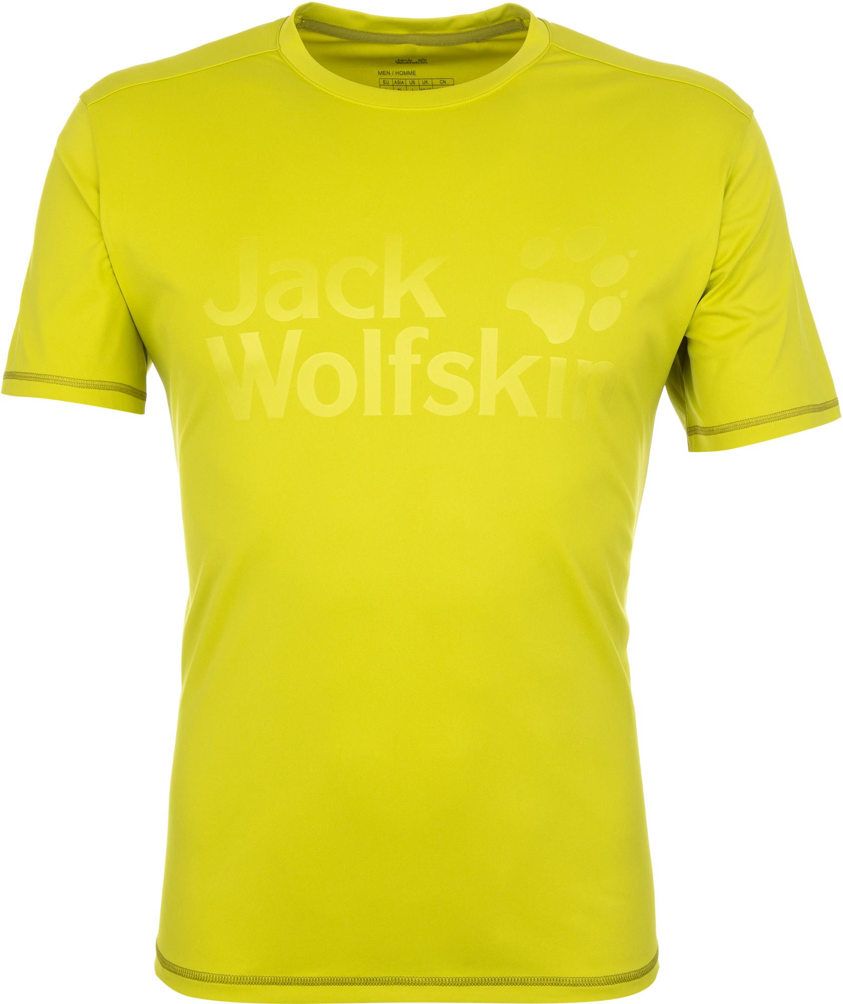 Jack Wolfskin Футболка мужская JACK WOLFSKIN Sierra, размер 50-52 футболка для мальчика jack wolfskin brand t boys цвет темно голубой 1607241 1087 размер 176 182