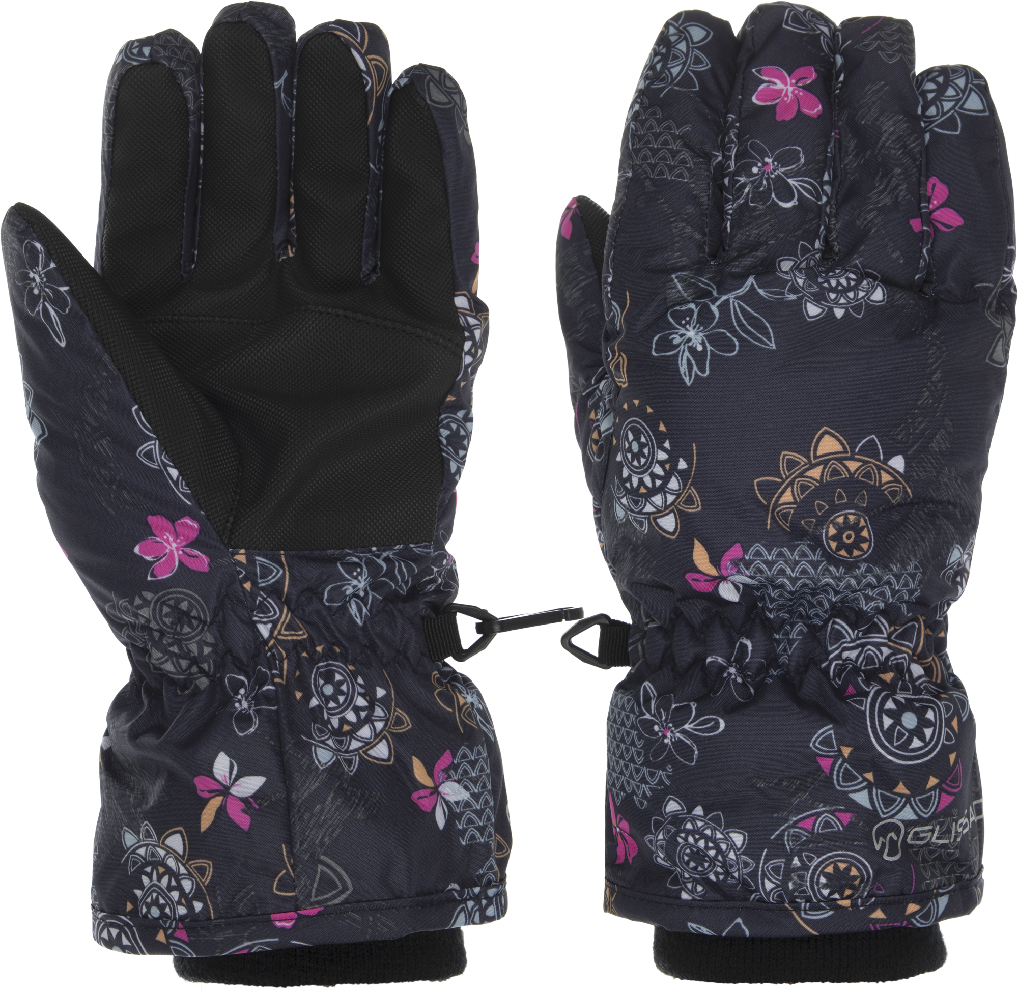цена Glissade Перчатки для девочек Glissade, размер 5 онлайн в 2017 году