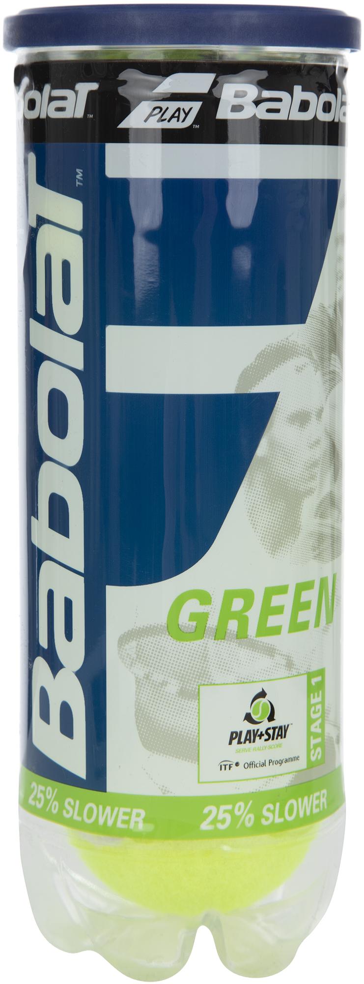 Babolat Набор теннисных мячей Babolat Green X3 babolat набор мячей для большого тенниса babolat orange x3 размер без размера
