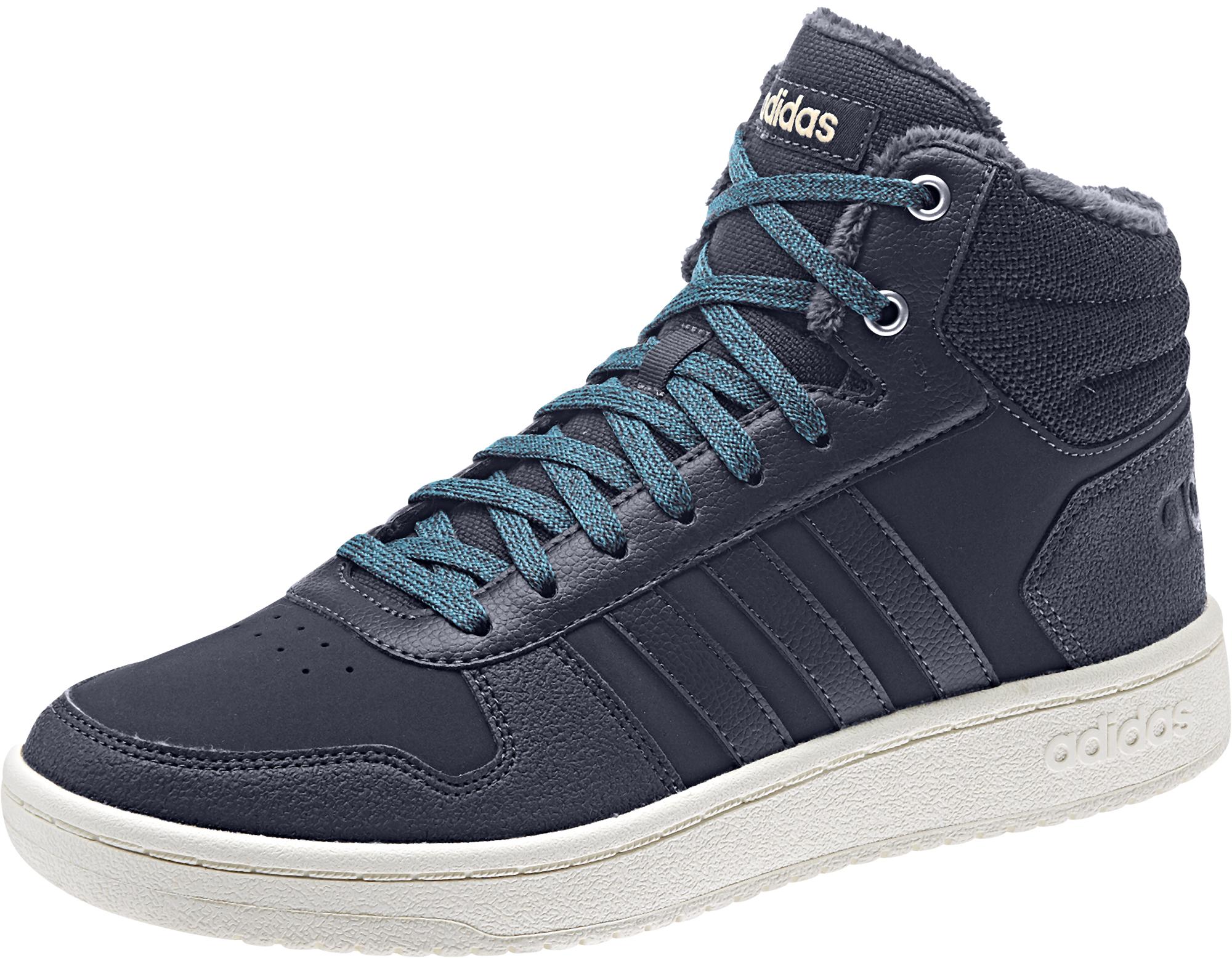 Adidas Кеды высокие женские Hoops 2.0, размер 38,5