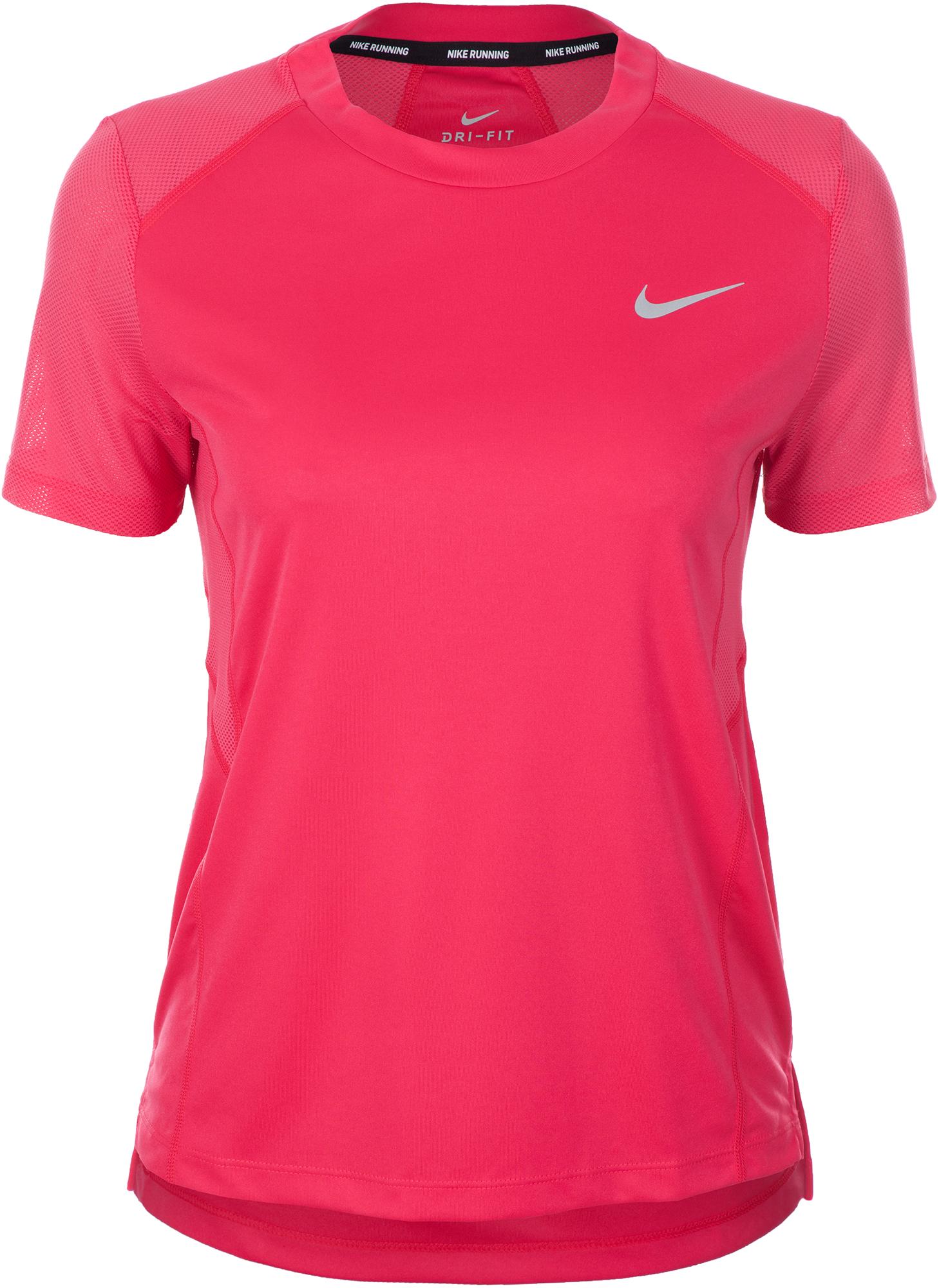 Nike Футболка женская Nike Miler, размер 48-50 футболка женская nike pro top цвет белый 889540 100 размер s 42 44