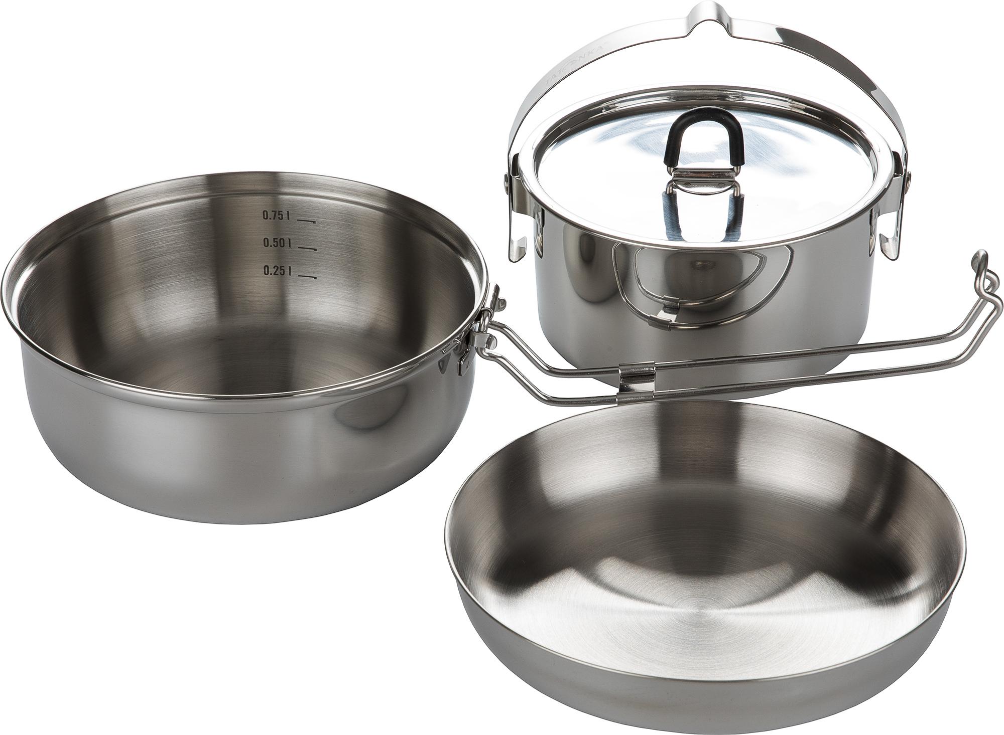 цена на Tatonka Набор посуды: котелок, сковорода, миска Tatonka CAMP SET LARGE