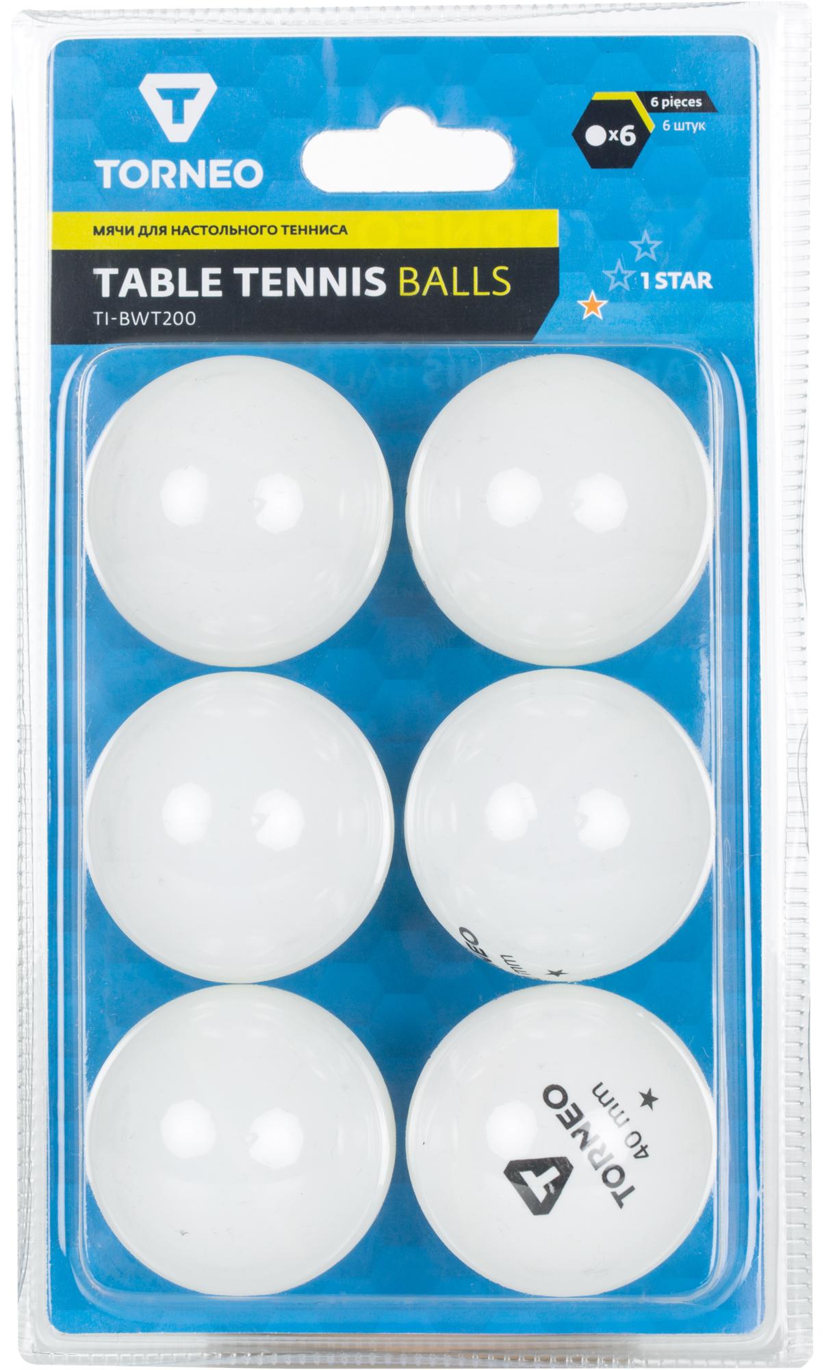Torneo Мячи для настольного тенниса Torneo, 6 шт. стоимость