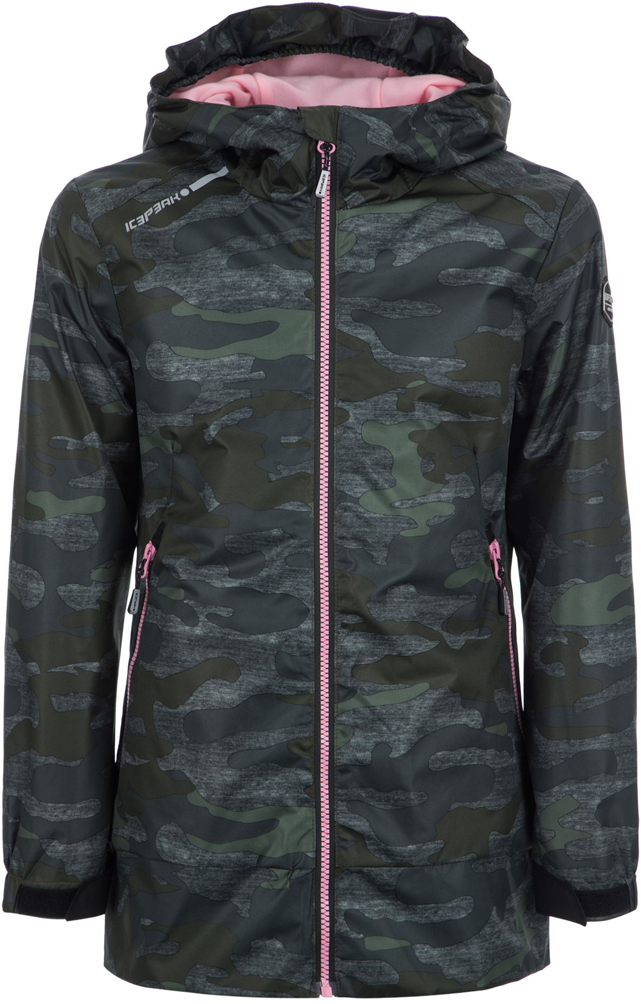 IcePeak Куртка для девочек IcePeak Tierra, размер 128 костюм куртка брюки для девочек icepeak 452002654iv цвет фиолетовый р 164 100%полиэстер 740