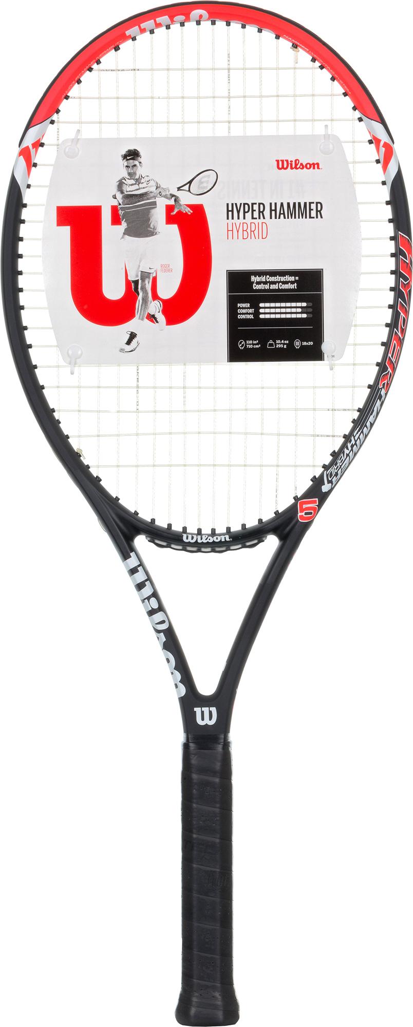 Wilson Ракетка для большого тенниса Wilson Hyper Hammer 5 HYB, размер 3 wilson ракетка для большого тенниса детская wilson roger federer 23 размер без размера