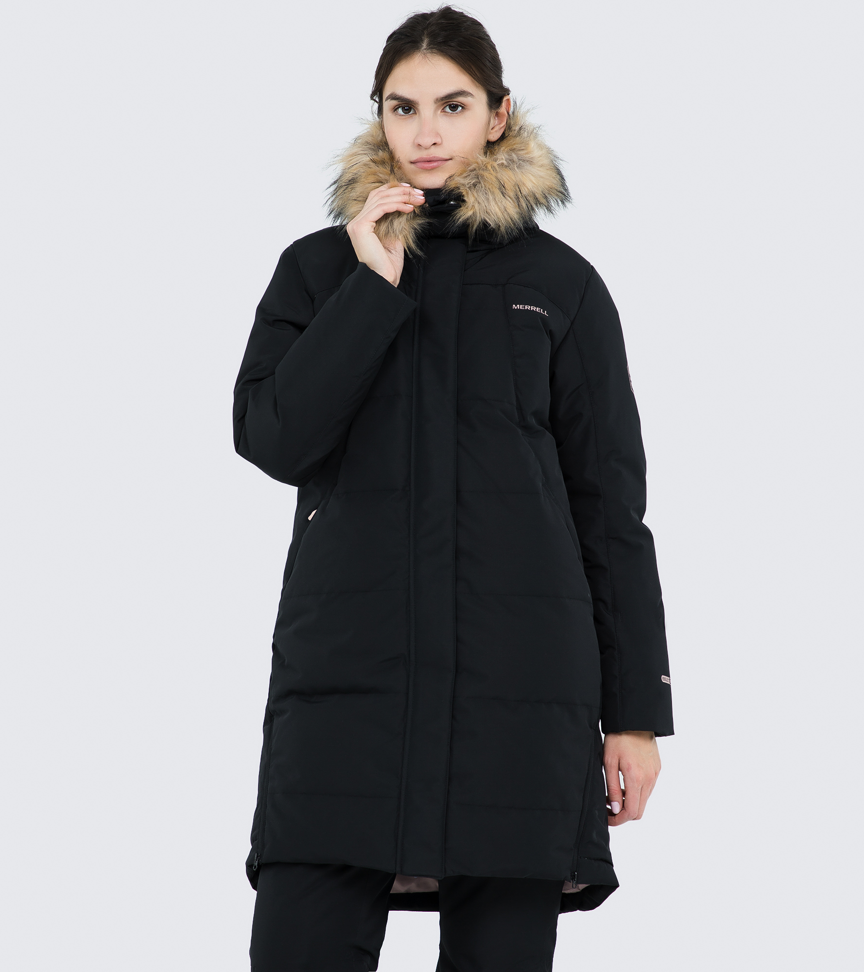 Merrell Куртка пуховая женская Merrell, размер 46 пуховик женский merrell women s jacket цвет петроль a19amrjaw02 s3 размер 46
