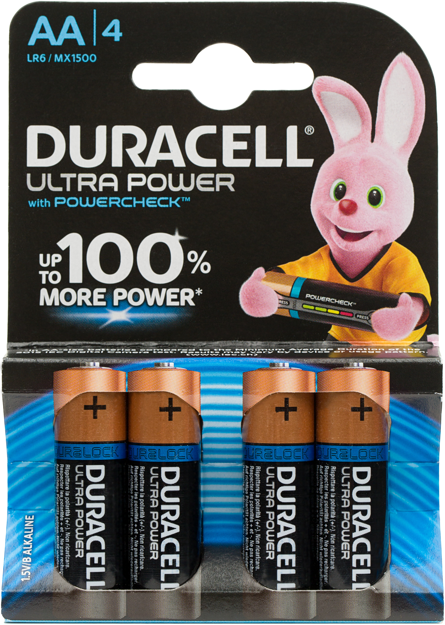 Duracell Батарейки щелочные Ultra Power АА/LR6, 4 шт.