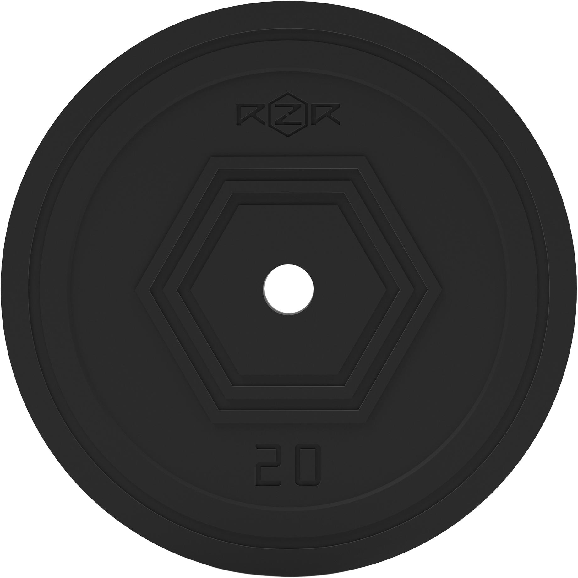 RZR Блин стальной обрезиненный, 20 кг -R200 блин стальной torneo 20 кг d 30 мм 1022 200