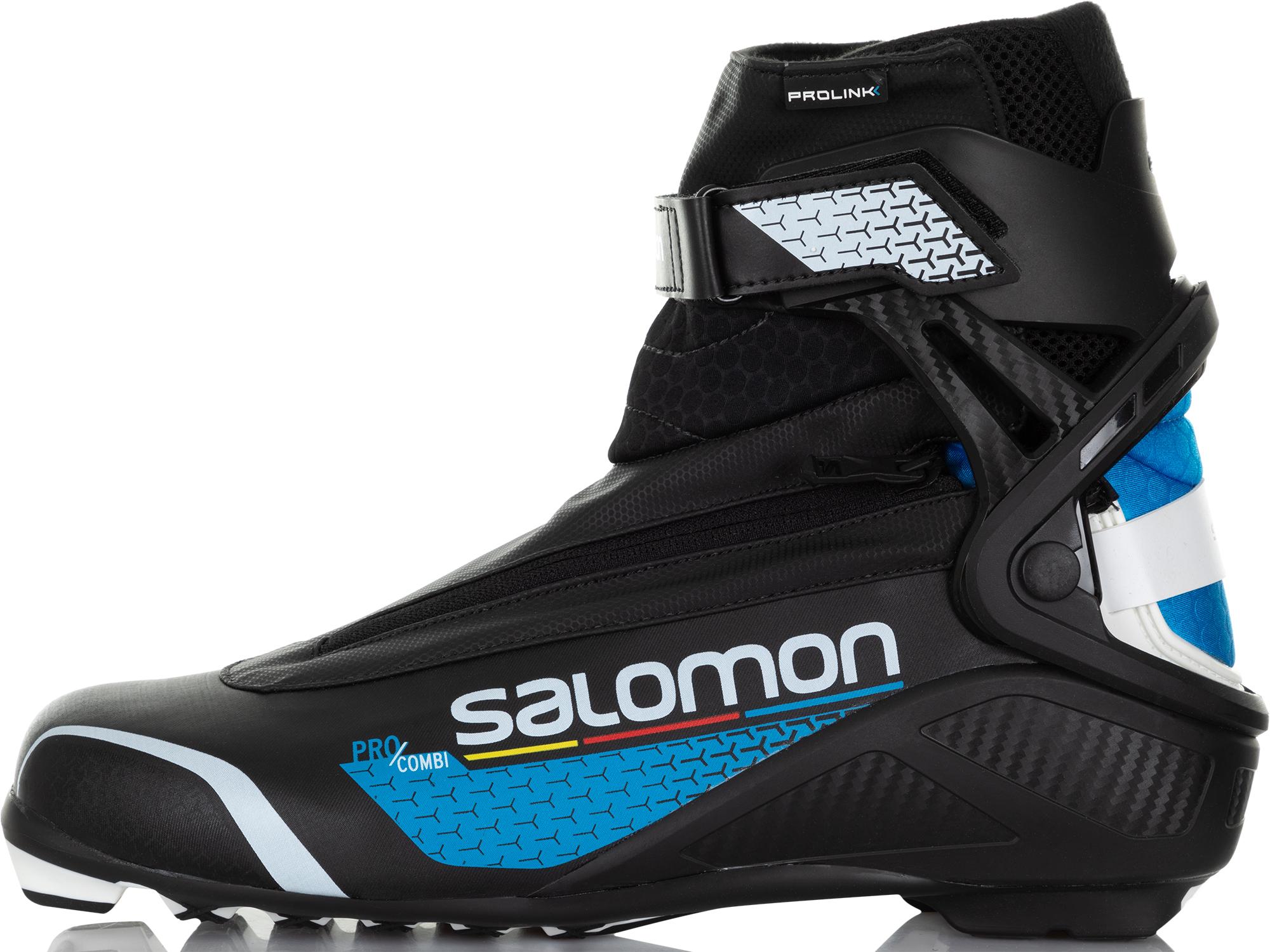 Salomon Ботинки для беговых лыж Salomon Pro Combi Prolink, размер 44 крепления salomon salomon для беговых лыж auto женские