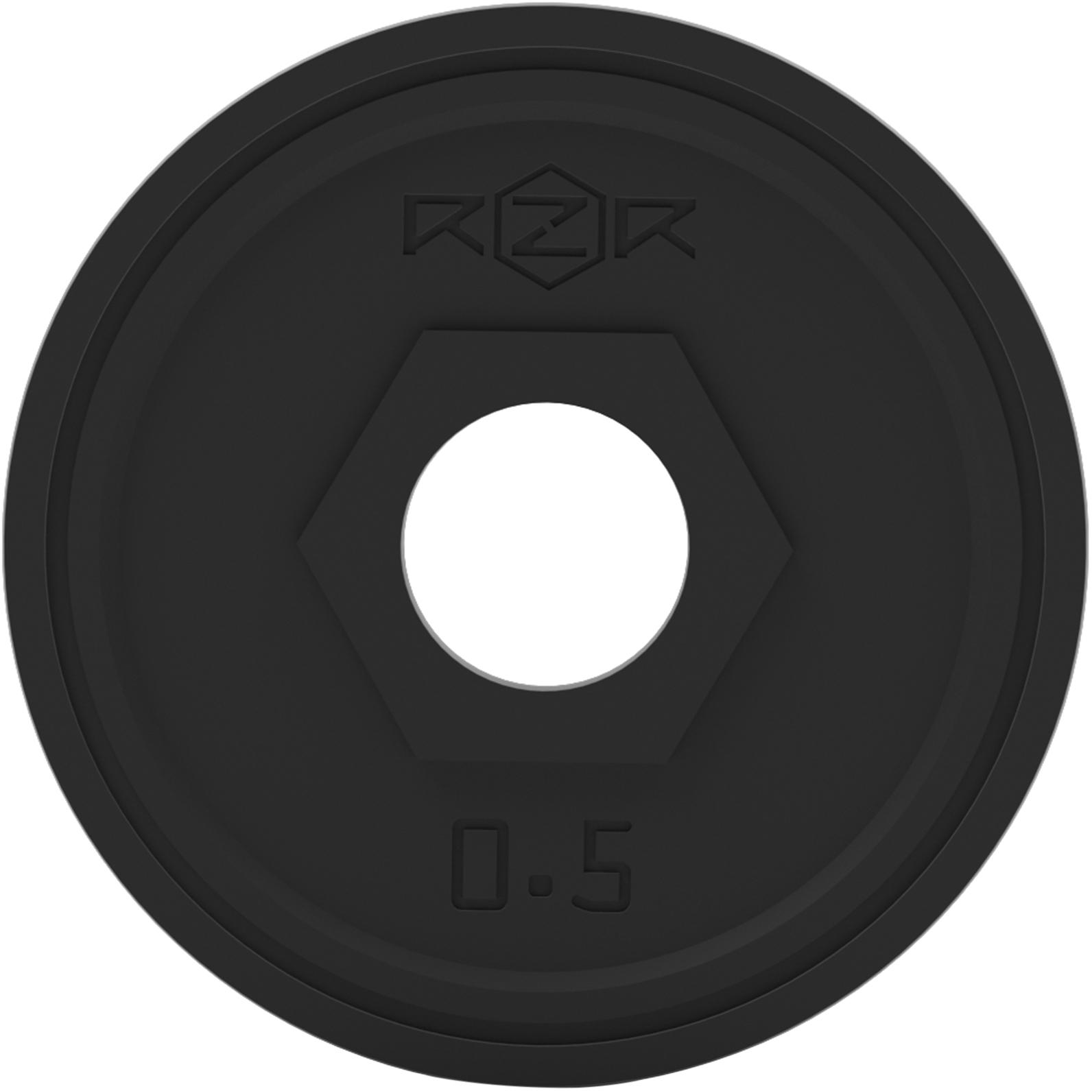 RZR Блин стальной обрезиненный 0,5 кг -R05 rzr блин стальной обрезиненный rzr 20 кг