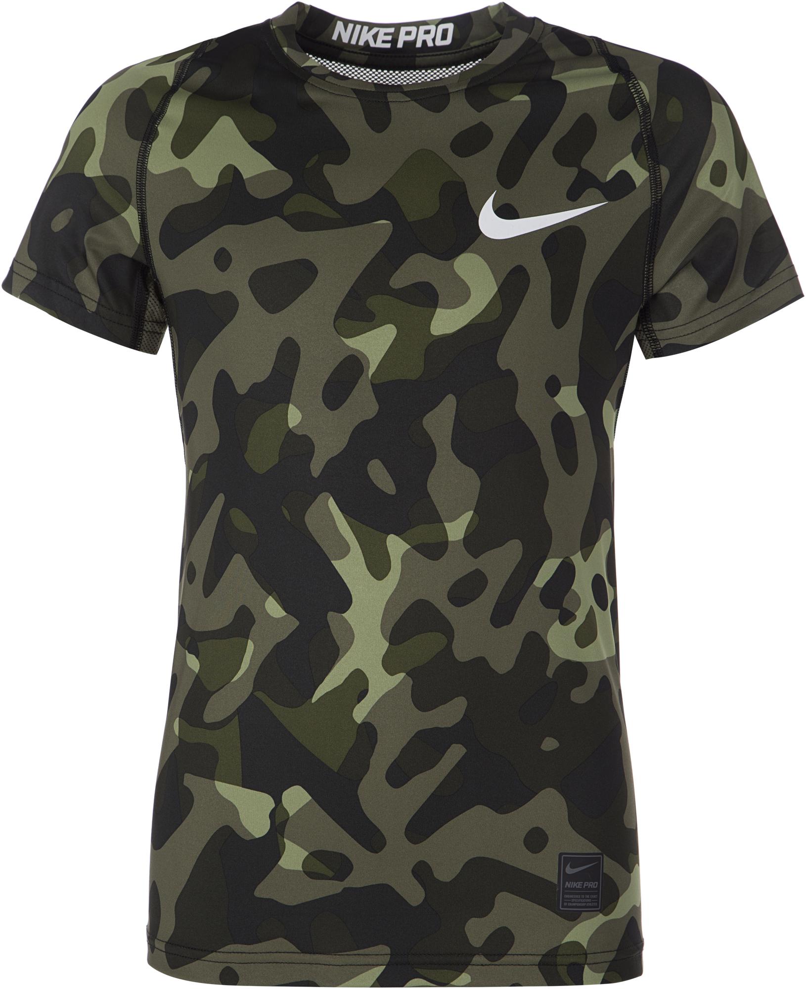 цены на Nike Футболка для мальчиков Nike Pro, размер 158-170 в интернет-магазинах