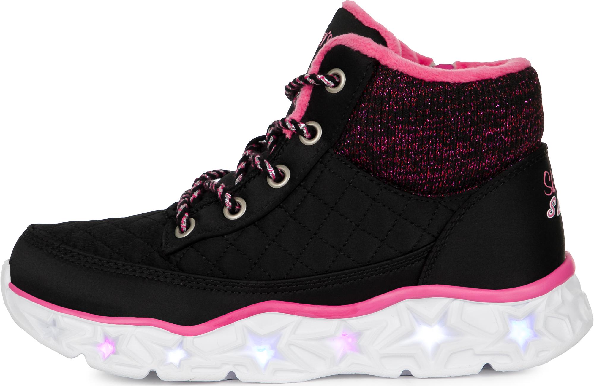 Skechers Ботинки утепленные для девочек Galaxy Lights-Snuggle Brights, размер 34,5