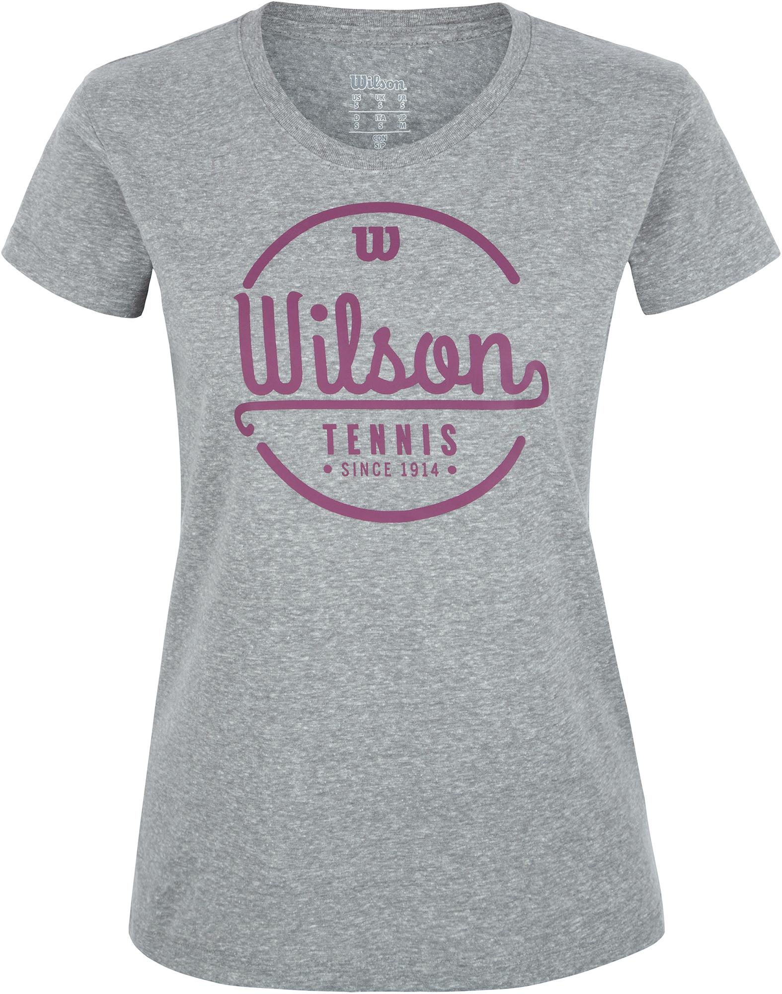 Wilson Футболка женская Wilson Lineage Tech Tee, размер 40-42 men ombre tee with drawstring shorts