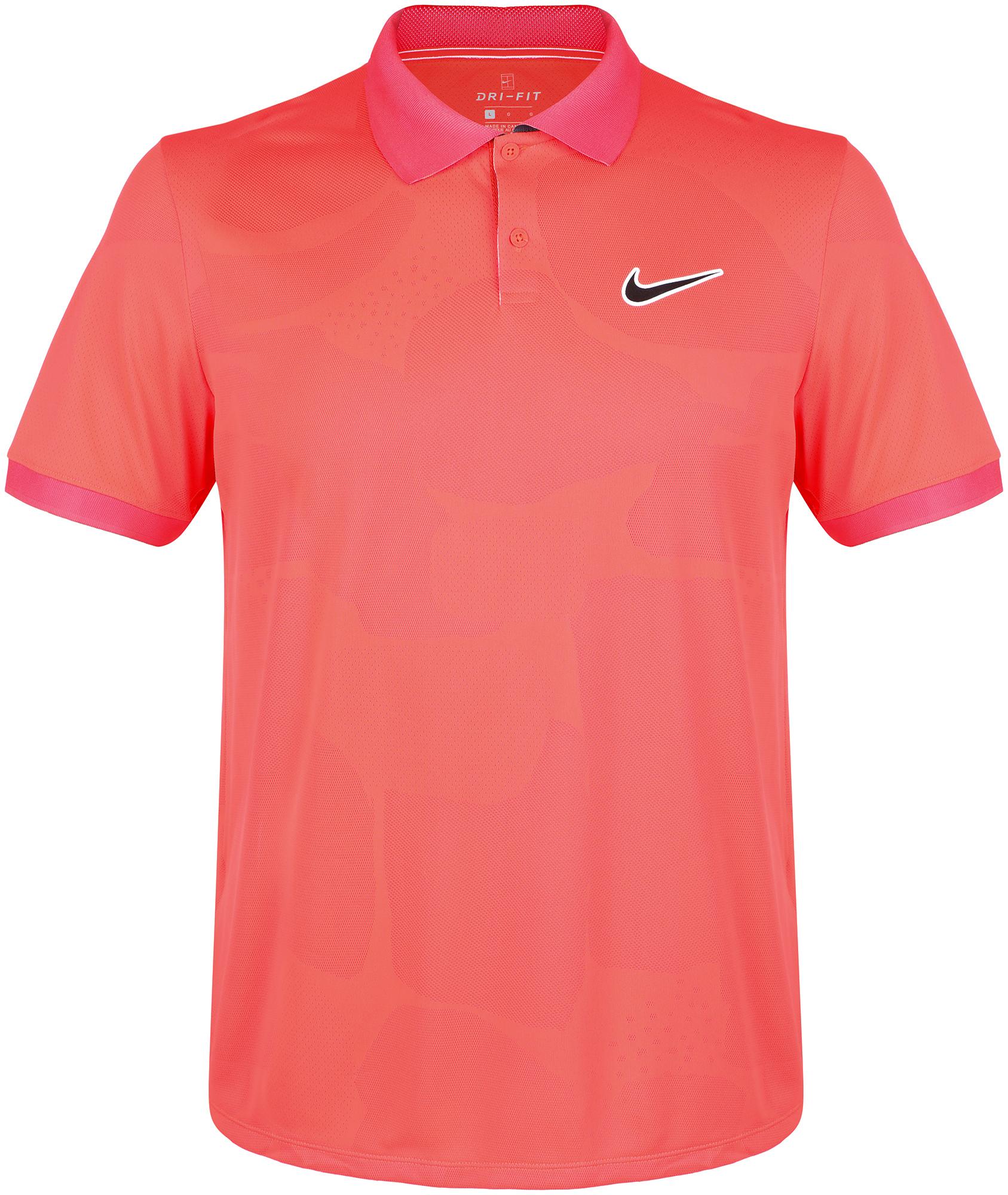 Nike Поло мужское Nike Court Breathe Advantage, размер 50-52 поло мужское rav цвет коричневый белый rav01 021 размер xl 52