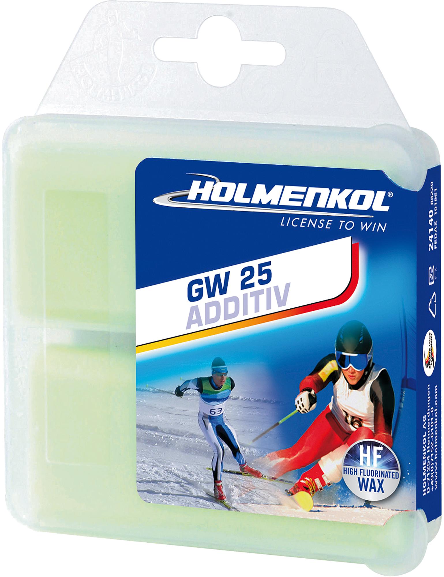Holmenkol Мазь скольжения твердая для лыж и сноубордов HOLMENKOL AdditivHigh FluorGW25