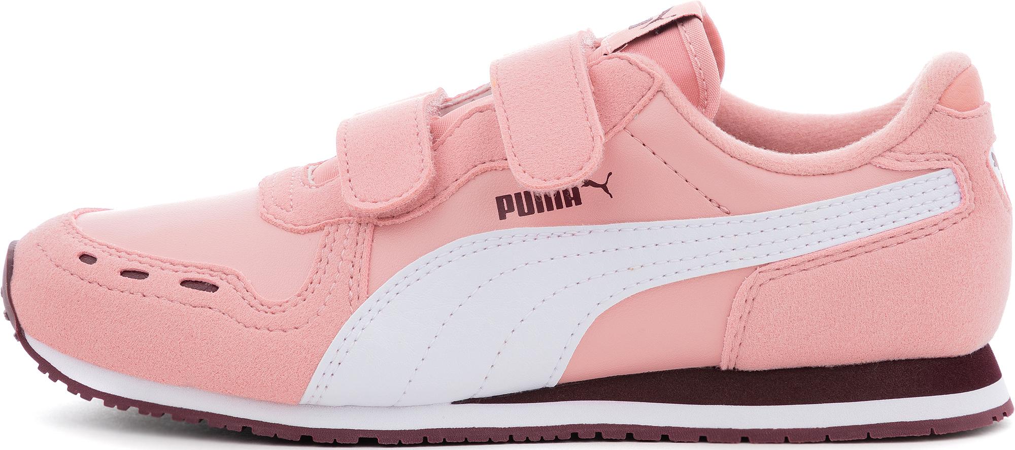 Puma Кроссовки для девочек Cabana Racer Sl V Ps, размер 34