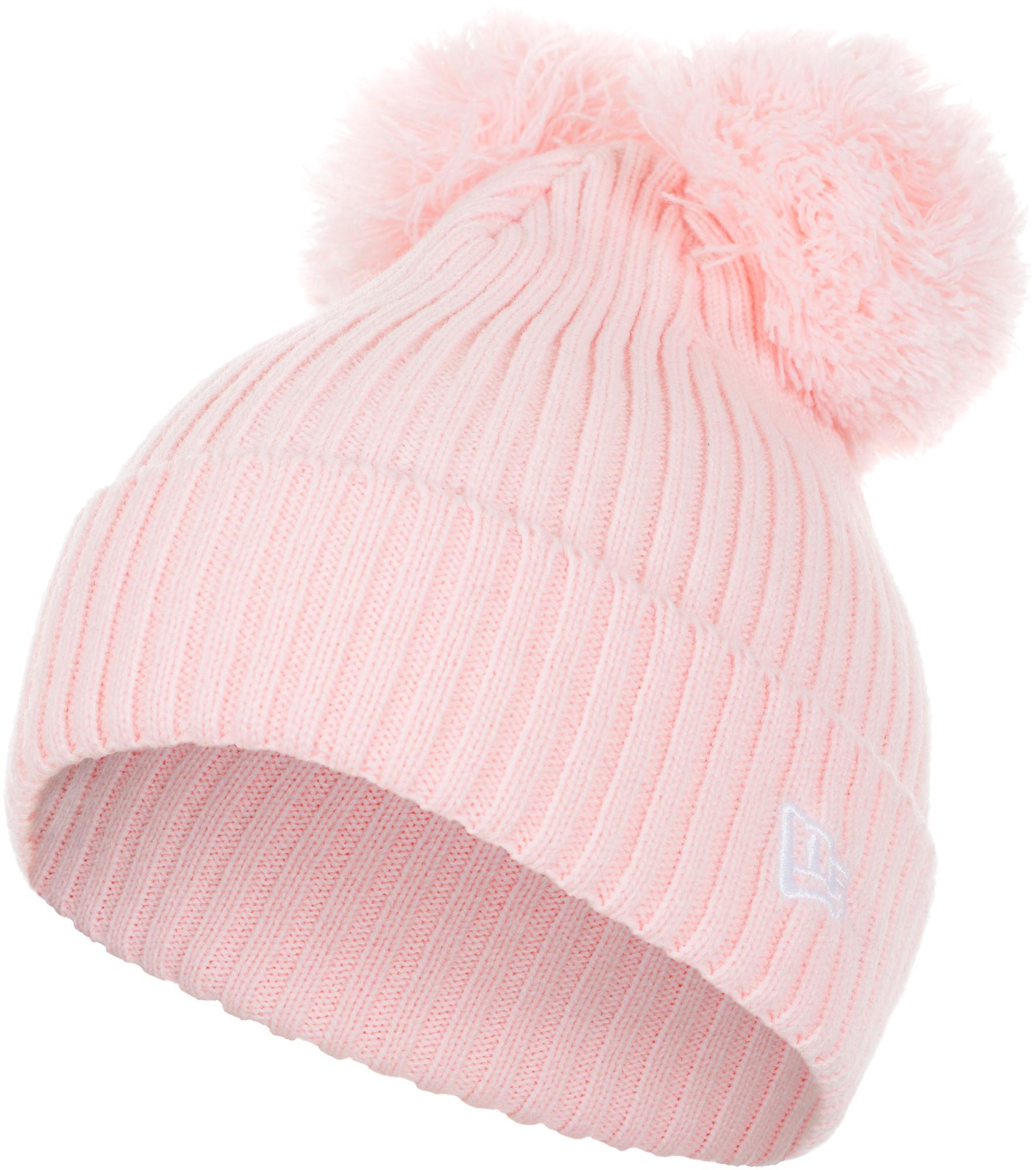 New Era Шапка для девочек New Era Lic 875 Double Pom Cuff Knit, размер 54-55 new era шапка для мальчиков new era ne cuff pom размер 54 55