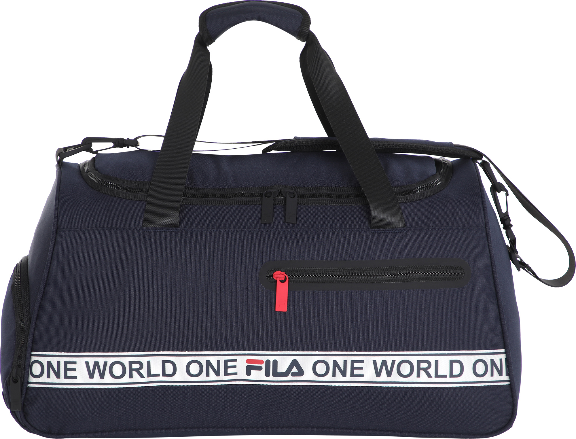 сумка спортивная fila coated bag s19aflacu01 m1 синий FILA Сумка FILA