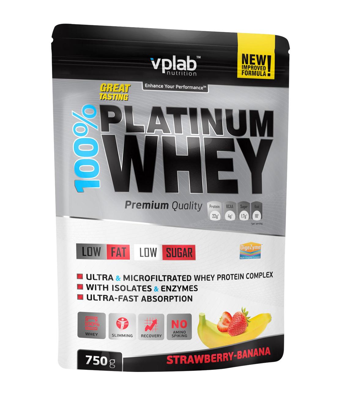 Фото - Vplab nutrition Протеин, клубника и банан (750 гр) протеин