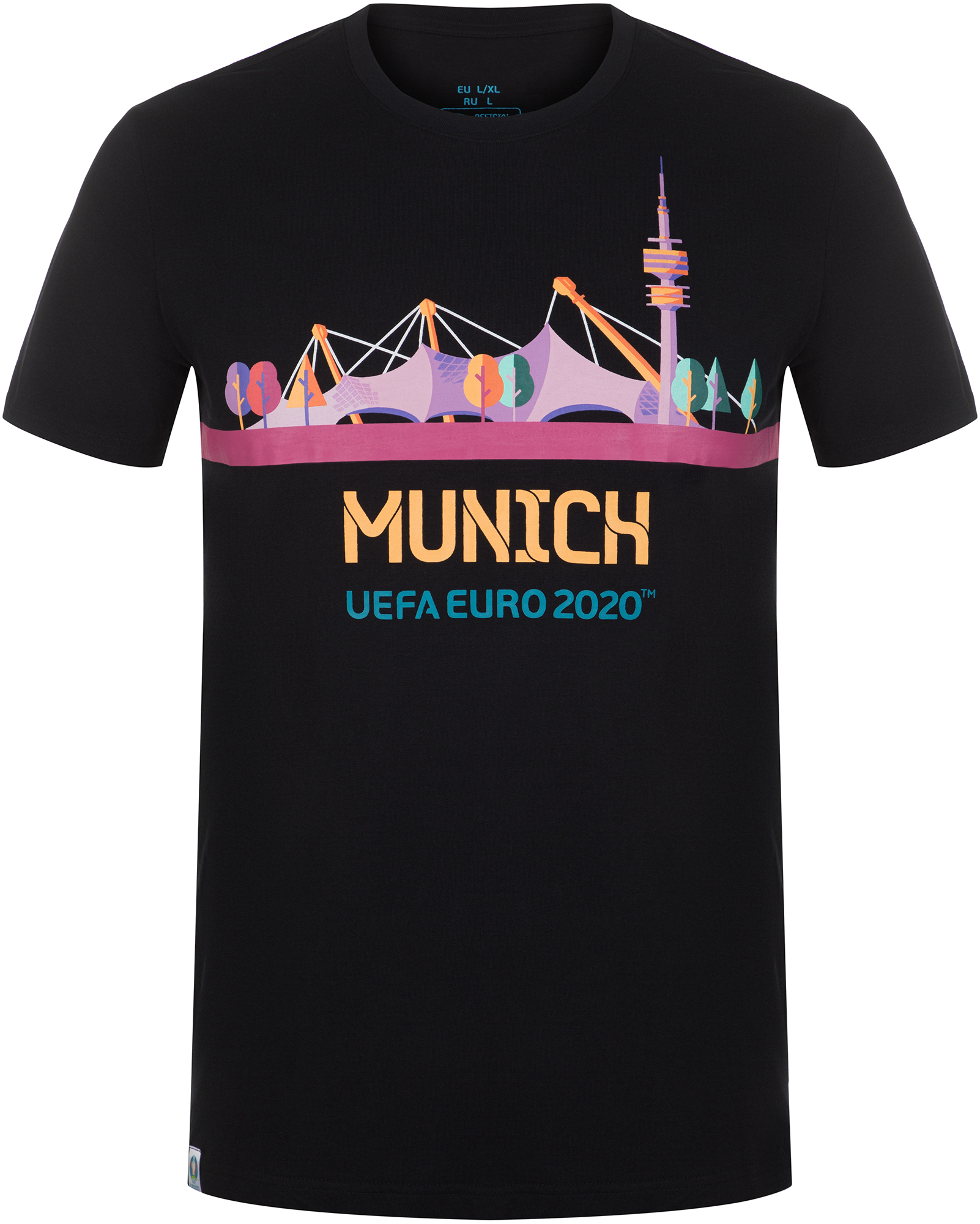 UEFA EURO 2020 Футболка мужская UEFA EURO 2020, размер 46 подушка printio uefa euro 2016