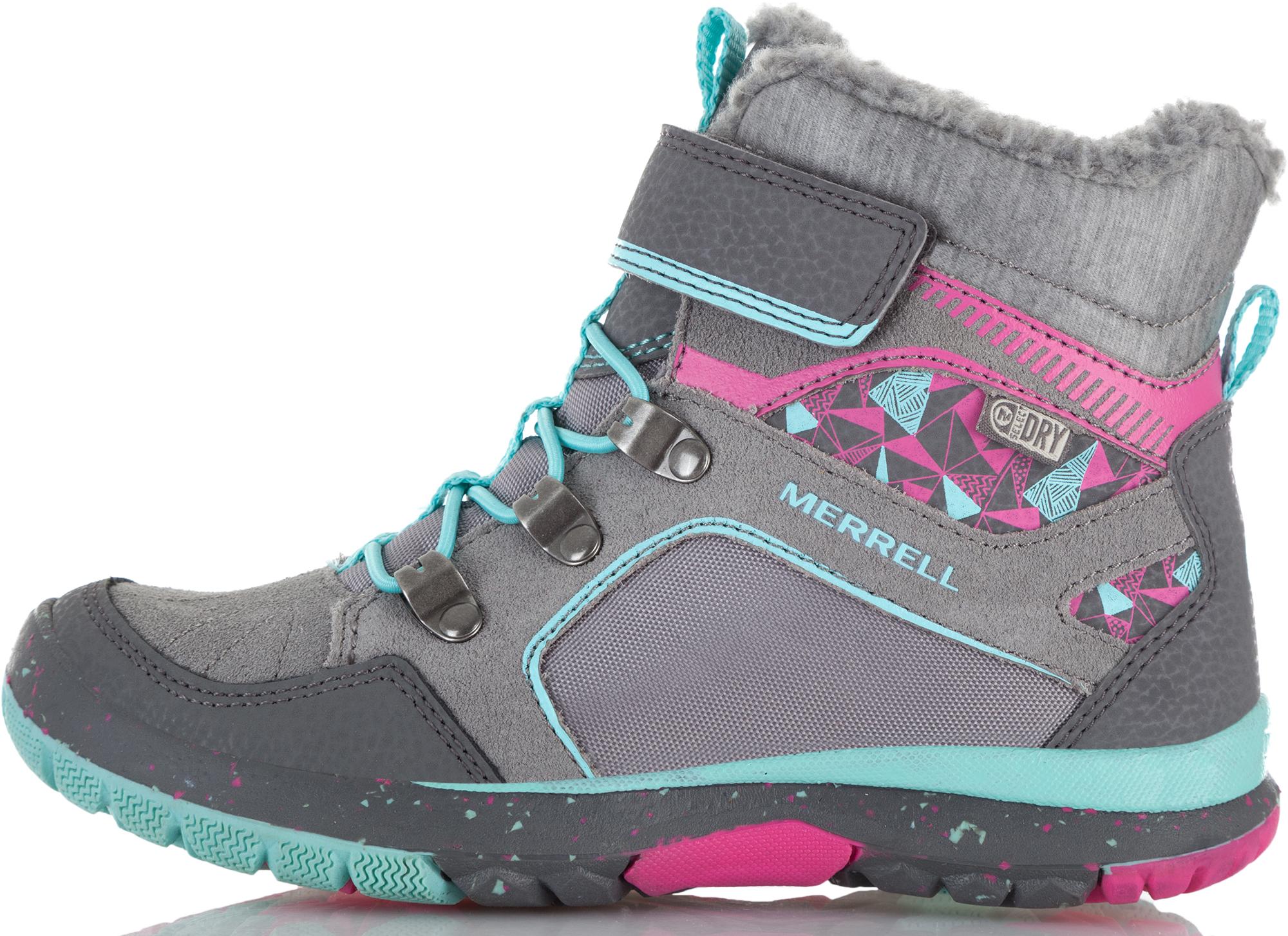 Merrell Ботинки утепленные для девочек Merrell Moab Fst Polar, размер 28,5 цена