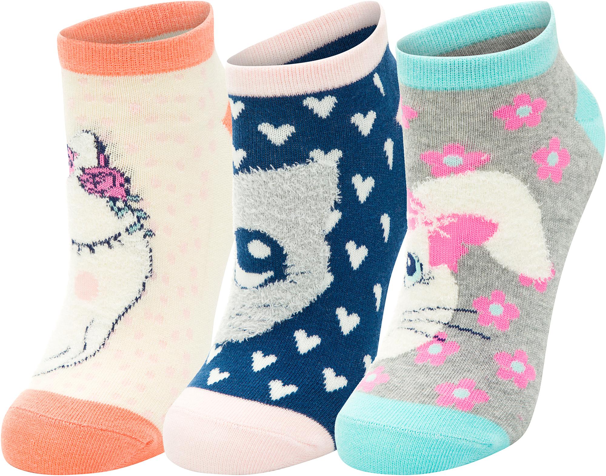 Skechers Носки для девочек Skechers, 3 пары, размер 24-35