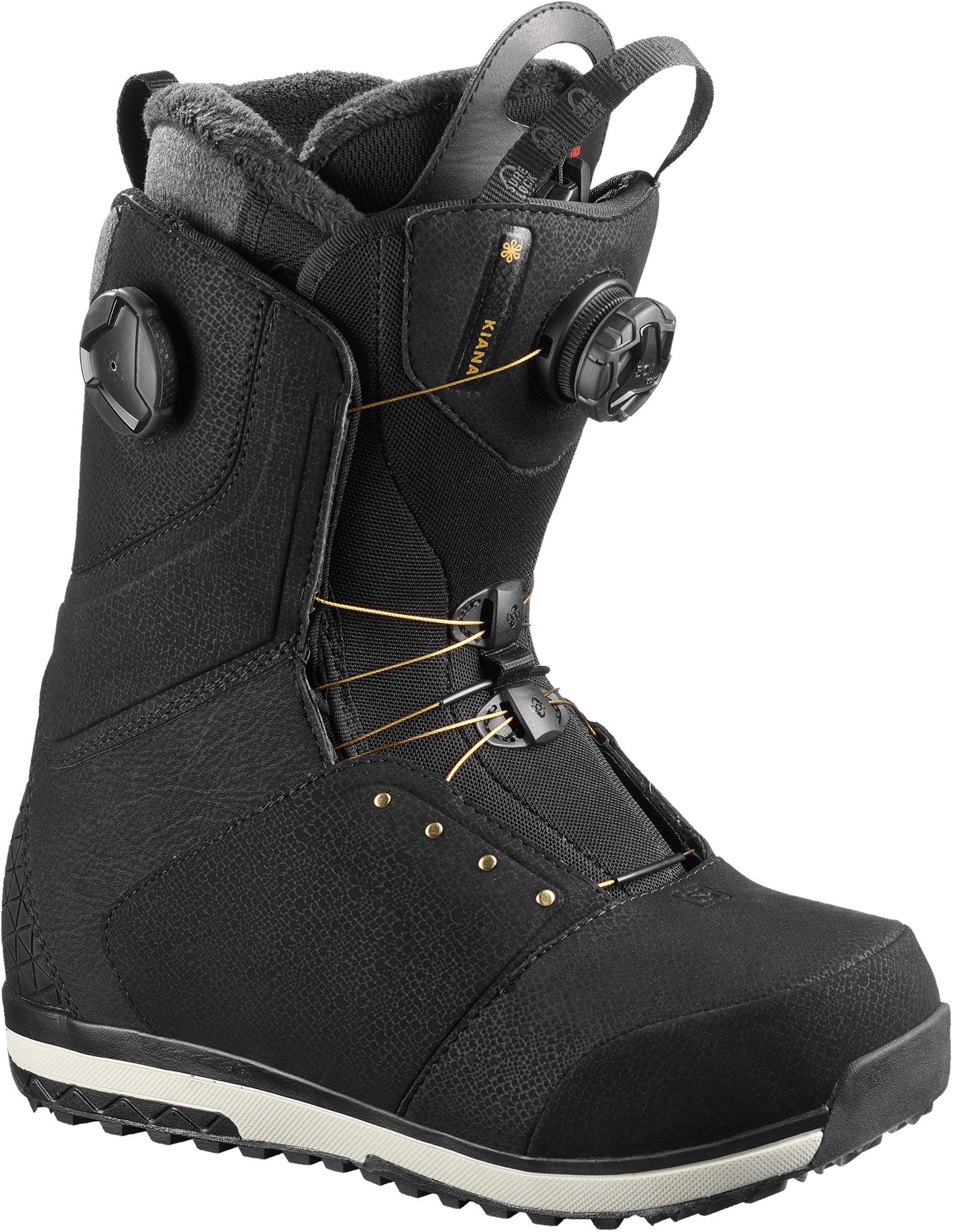 все цены на Salomon Сноубордические ботинки женские Salomon Kiana Focus Boa, размер 37 онлайн