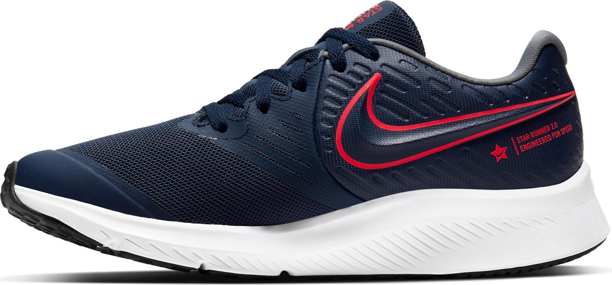 Nike Кроссовки для мальчиков Nike Star Runner 2 (GS), размер 34.5 кроссовки nike cortez basic ltr se gs shoe girls aa3043 001