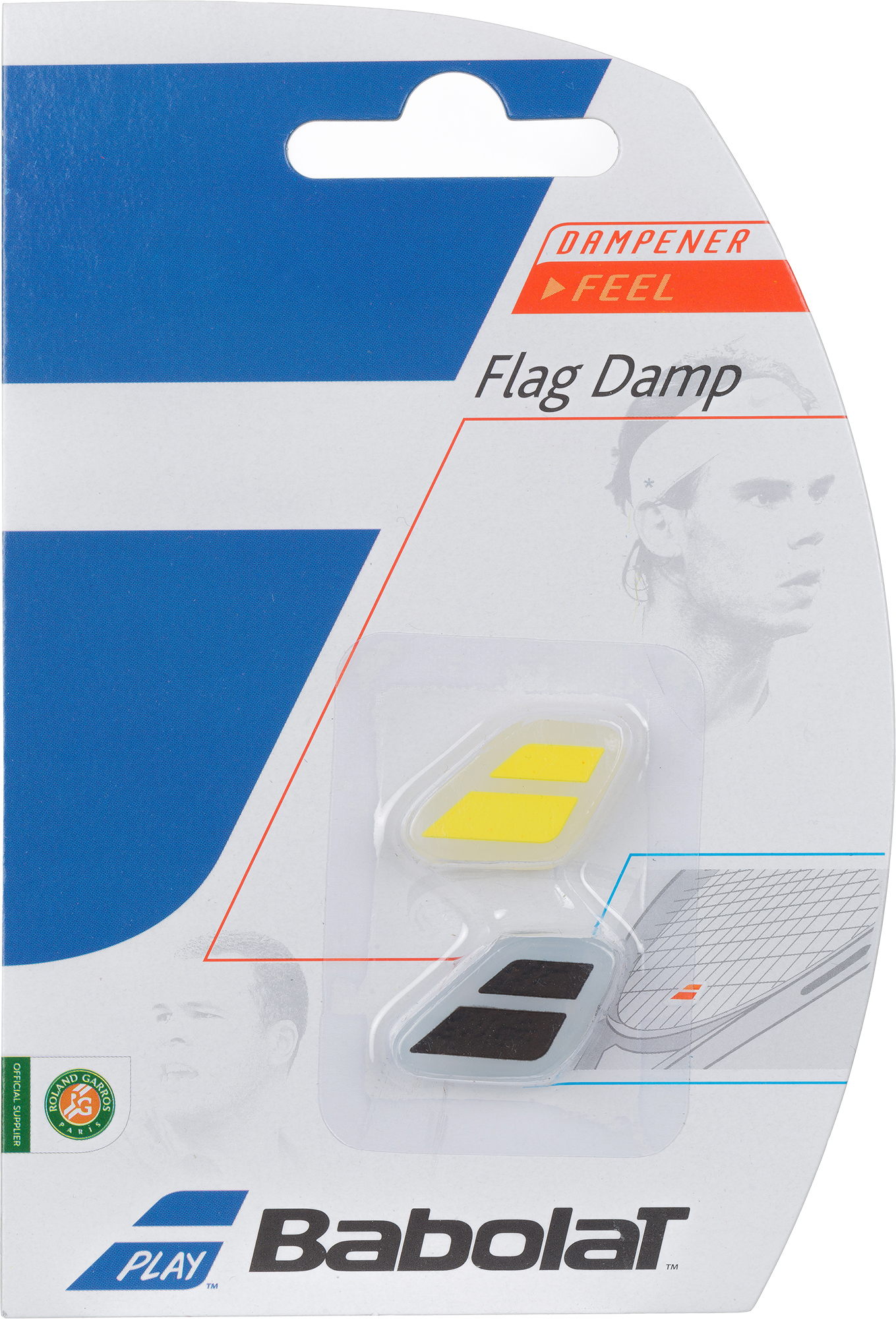 Babolat Виброгаситель Babolat Flag Damp X2, размер Без размера babolat футболка мужская babolat perf crew neck tee размер 50