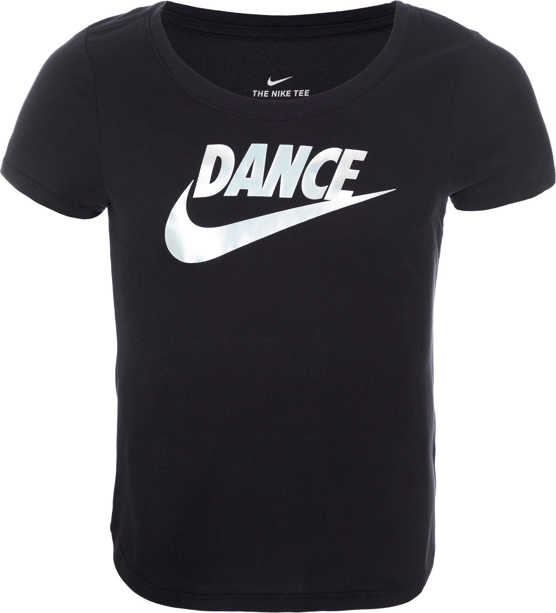все цены на Nike Футболка для девочек Nike, размер 146-156 онлайн