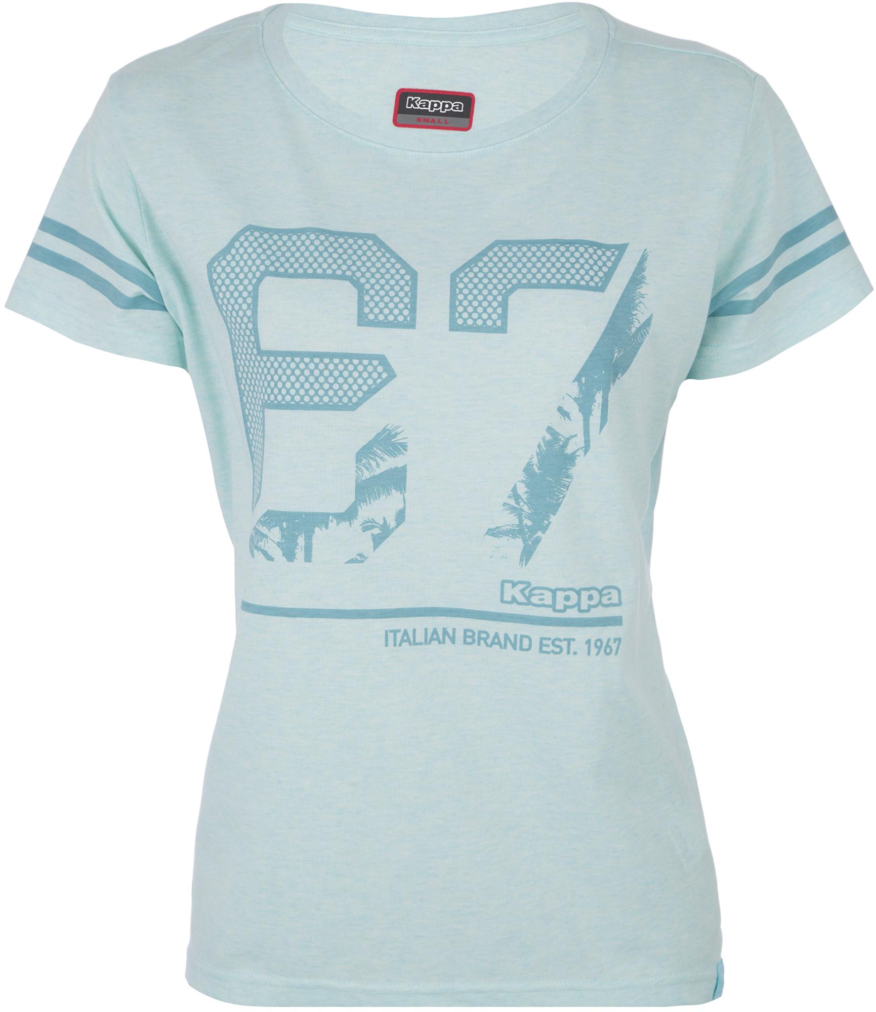 футболка женская oodji ultra цвет бежево розовый 14701005 7b 46147 4b00n размер s 44 Kappa Футболка женская Kappa, размер 44