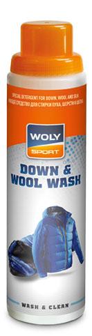 Woly Моющее средство для стирки пуха, шерсти и шелка Woly Sport Down & Wool Wash, 250 мл