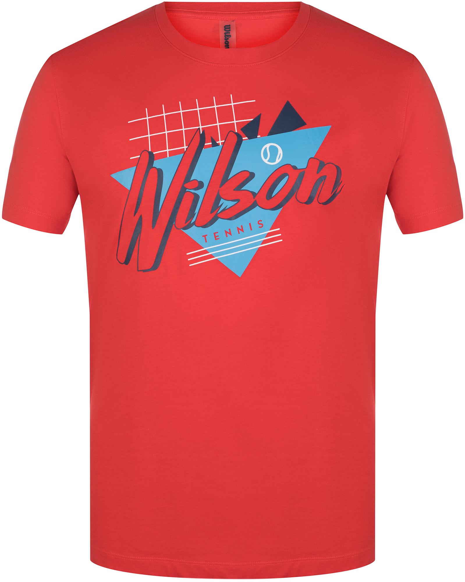 Wilson Футболка мужская Wilson NOSTALGIA TECH TEE, размер 48-50 футболка мужская reebok wor c graphic tee цвет серый ay2245 размер m 48 50