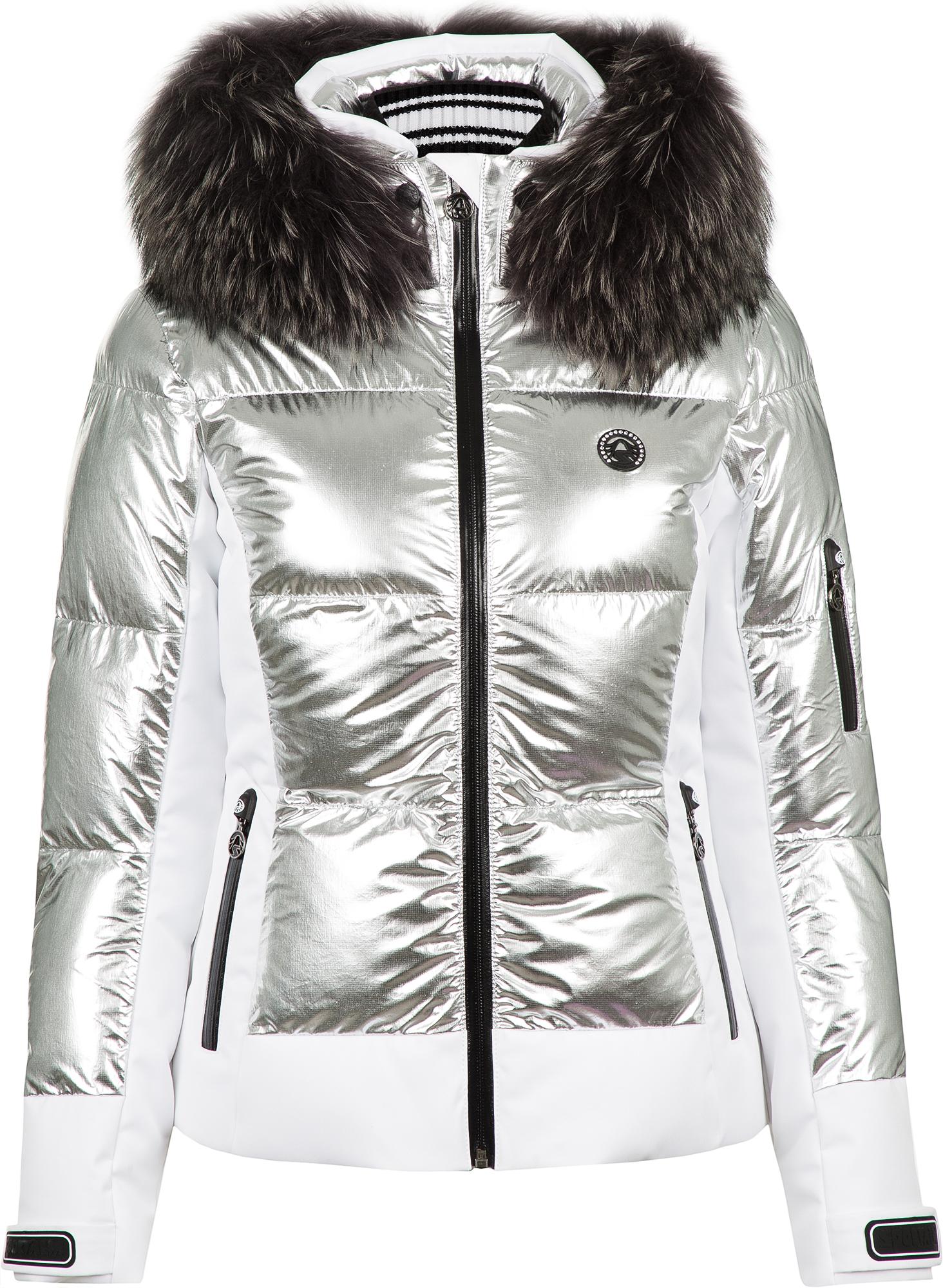 цена Sportalm Куртка утепленная женская Sportalm Cooris Metallic m.Kap+P, размер 44 онлайн в 2017 году