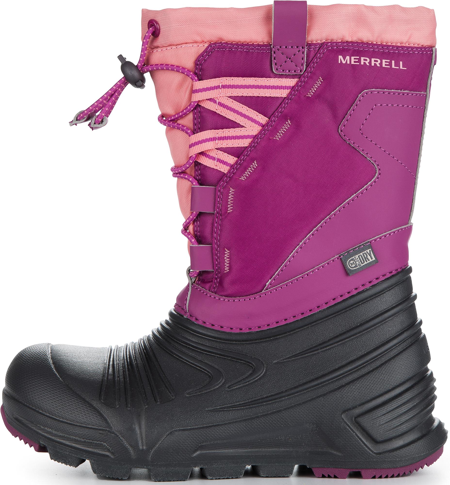 Merrell Ботинки утепленные для девочек Merrell M-Snoqstlite 2.0, размер 30 ботинки для девочки merrell m moab fst polar mid a c wtrpf цвет черный розовый mk159178 размер 13 30